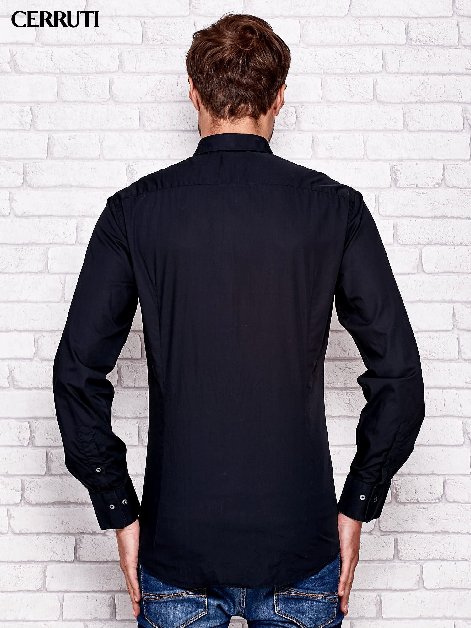 CERRUTI Czarna koszula męska
