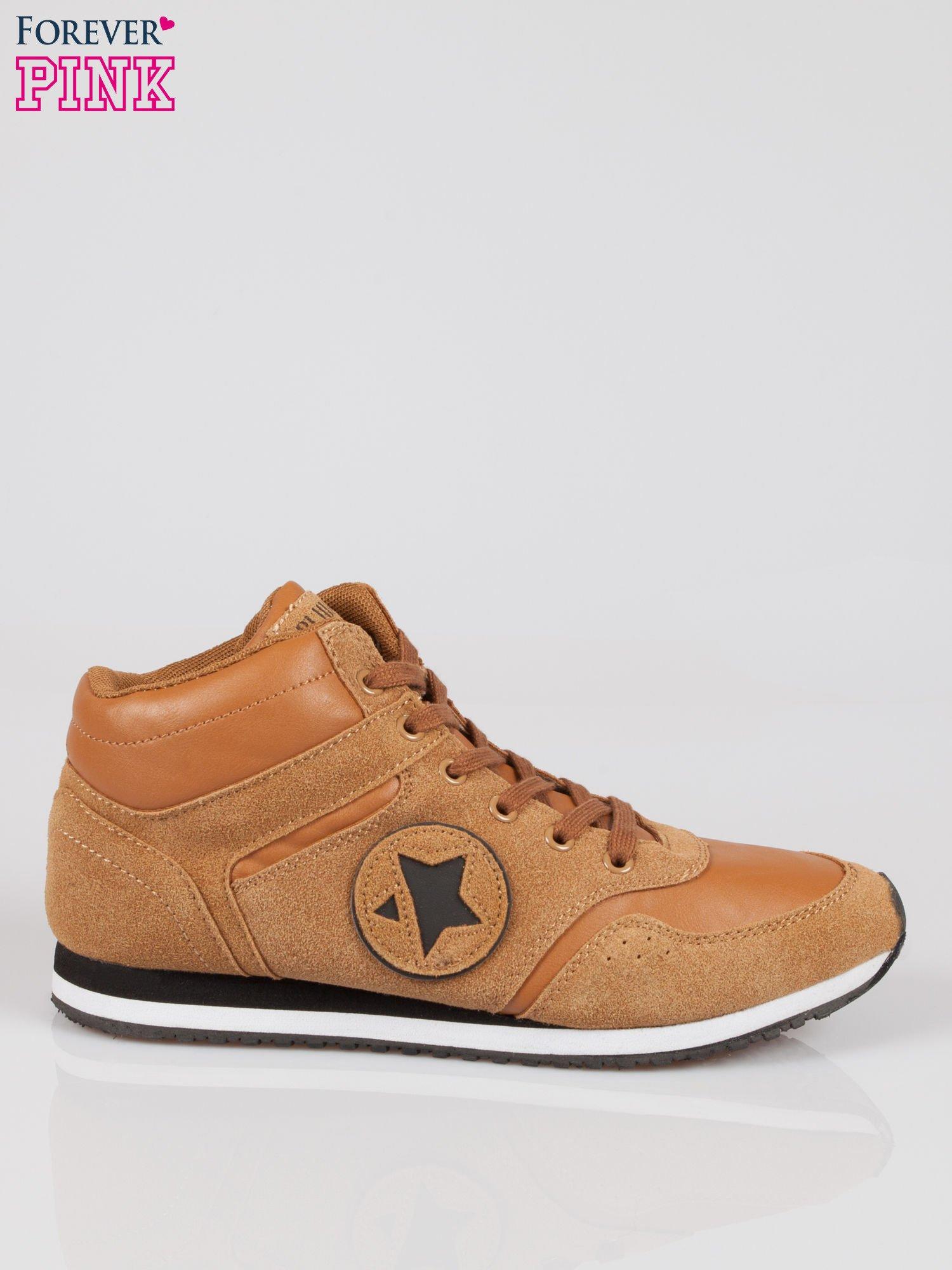 Camelowe buty sportowe faux suede Stylish z imitacji zamszu                                  zdj.                                  1