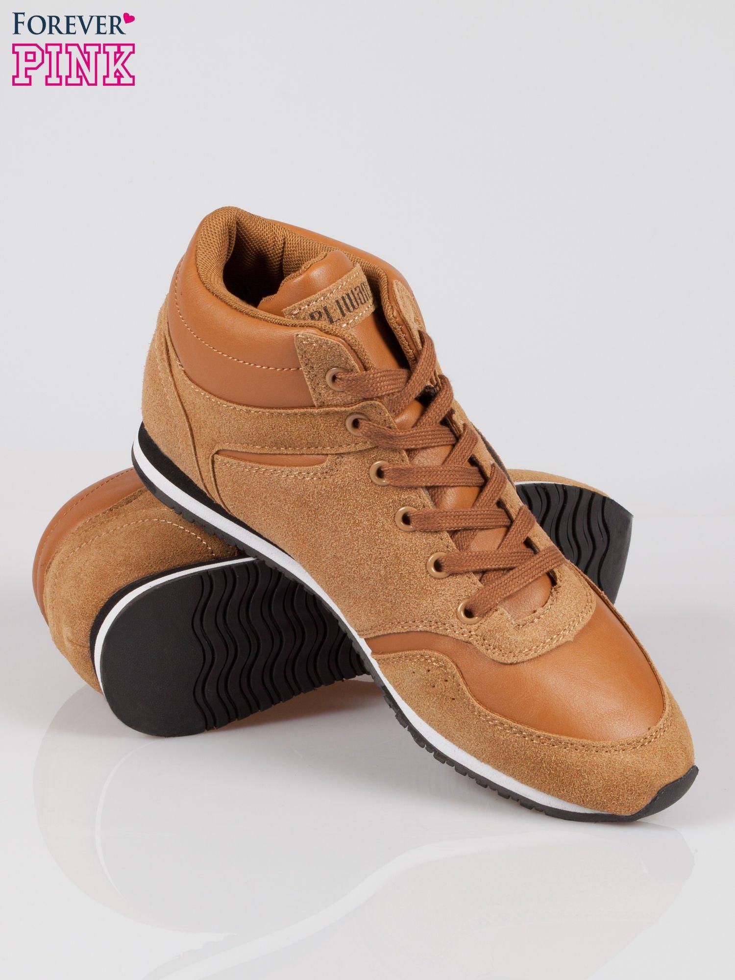 Camelowe buty sportowe faux suede Stylish z imitacji zamszu                                  zdj.                                  4