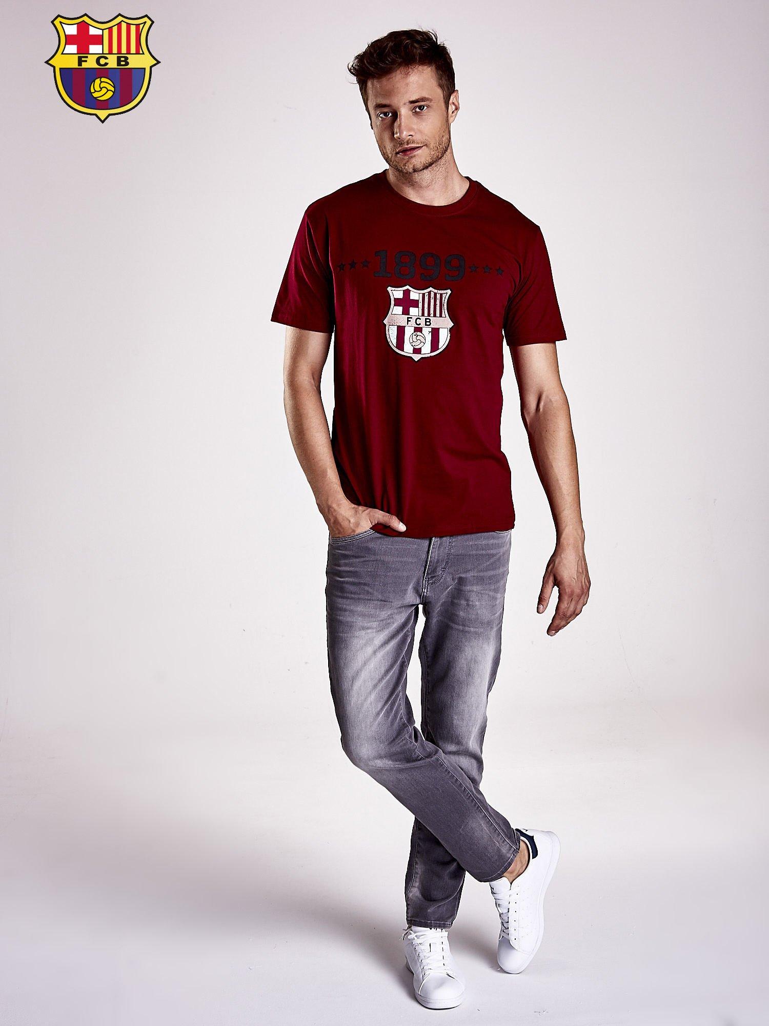 Ciemnoczerwony t-shirt męski FC BARCELONA                                   zdj.                                  5