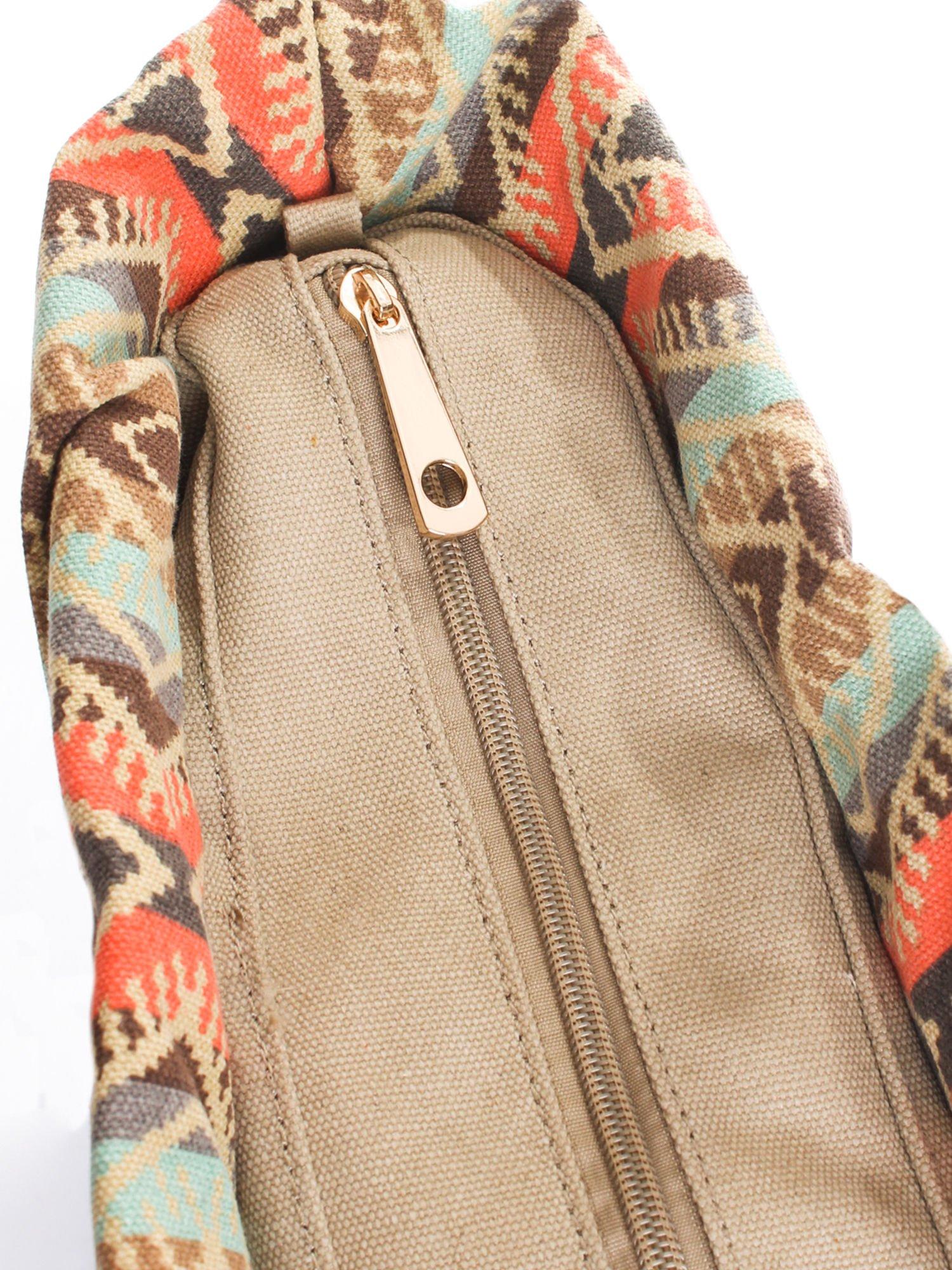 Ciemnoniebieska torba gumowa z motywem azteckim                                  zdj.                                  6