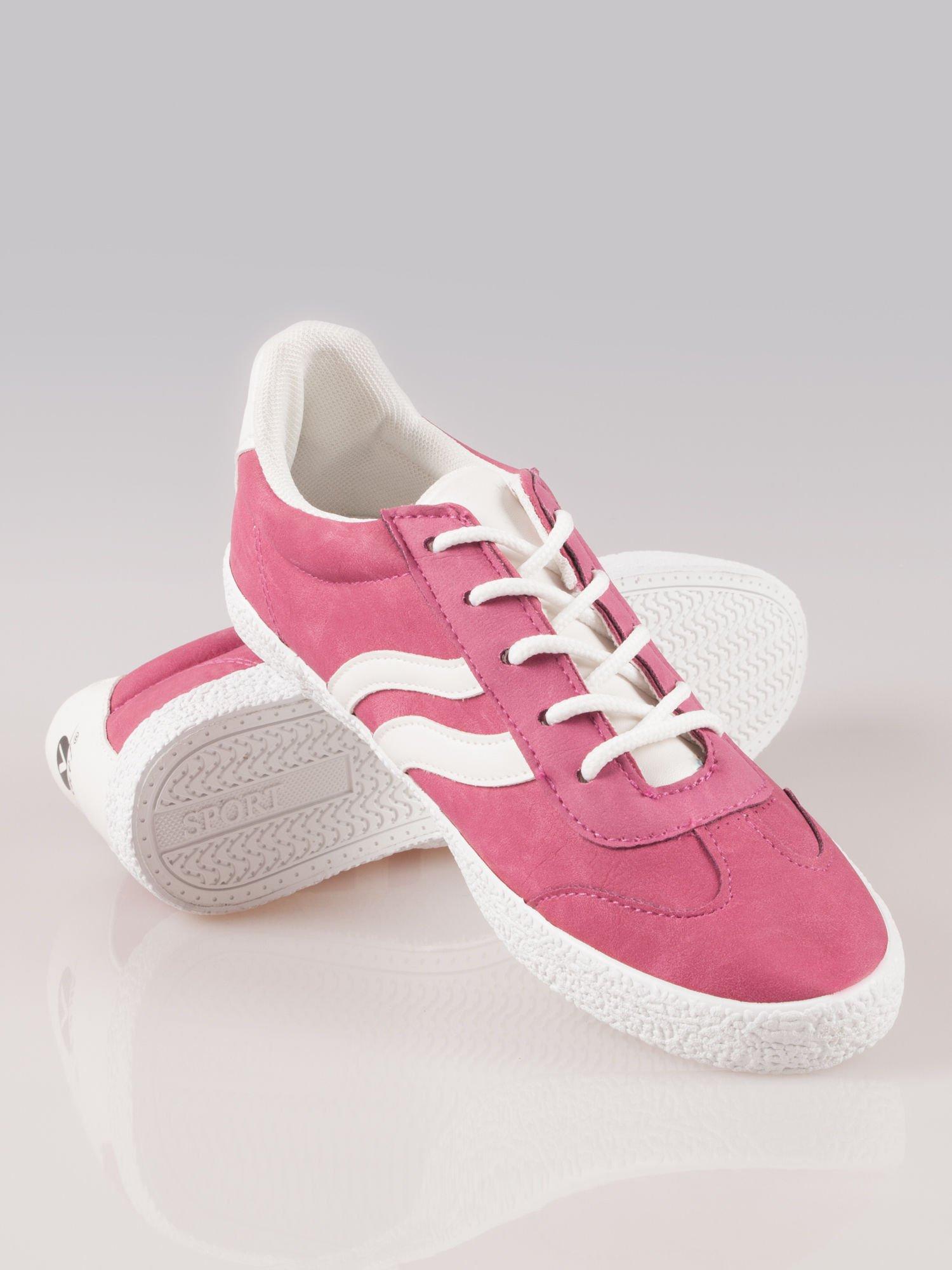 Ciemnoróżowe buty sportowe w stylu casual Kash                                  zdj.                                  4