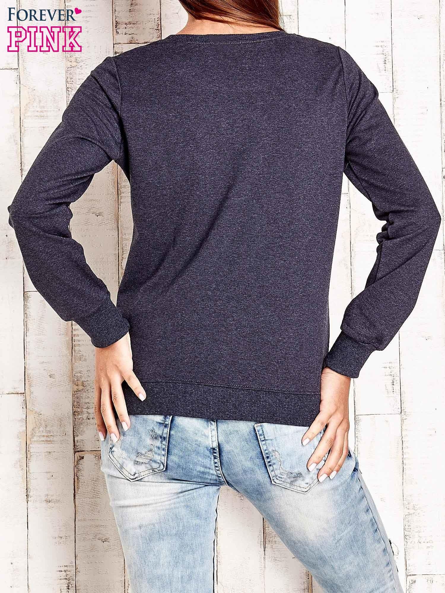 Ciemnoszara bluza z napisem ARIGATO                                  zdj.                                  4