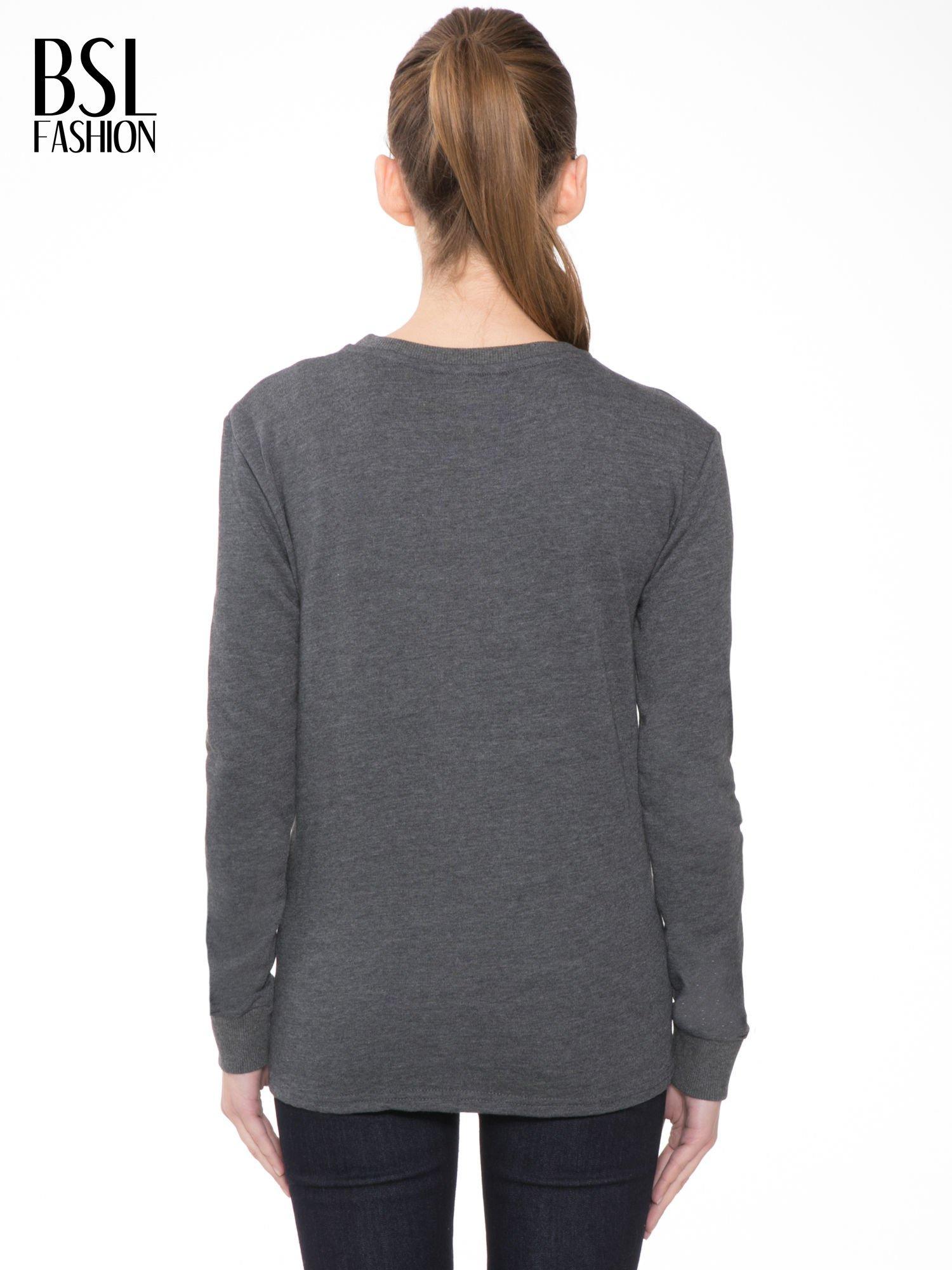 Ciemnoszara bluza z narukiem AIN'T LAURENT WITHOUT YVES                                  zdj.                                  4