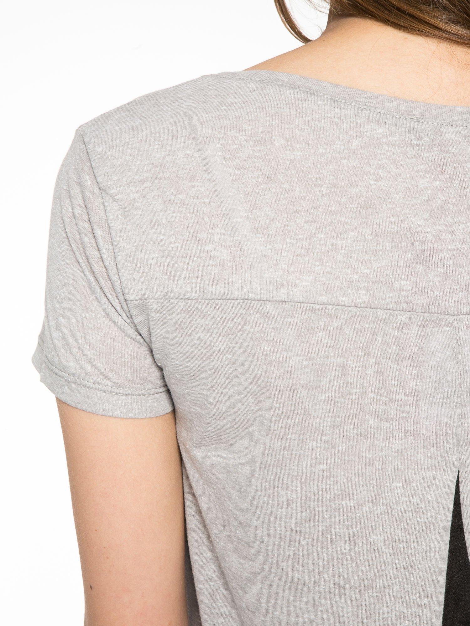 Ciemnoszary t-shirt z fotografiami miast                                  zdj.                                  10