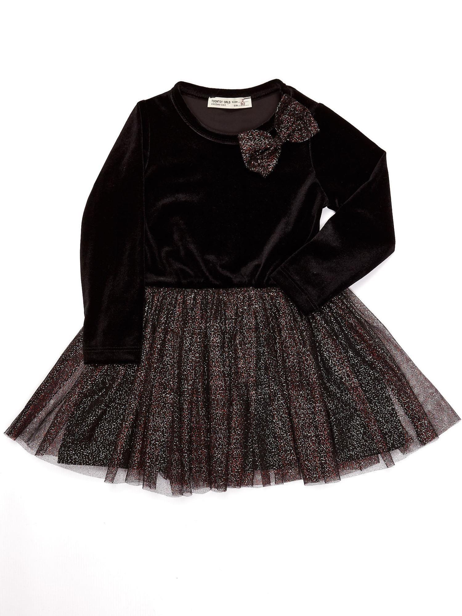 8e3a7af072 Czarna aksamitna sukienka dla dziewczynki - Dziecko Dziewczynka ...