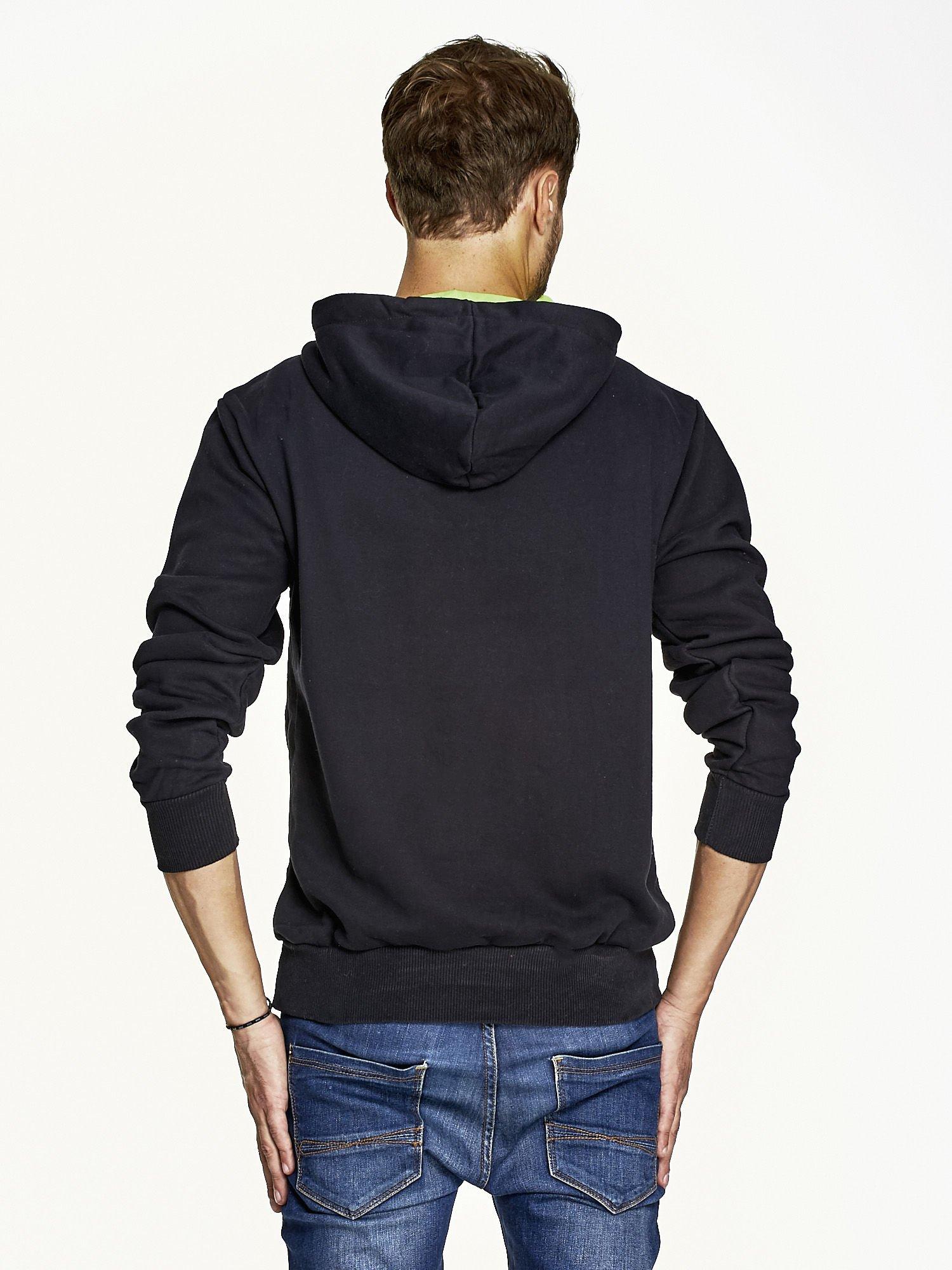 bluza czarna nadruk na plecach nezczyzna