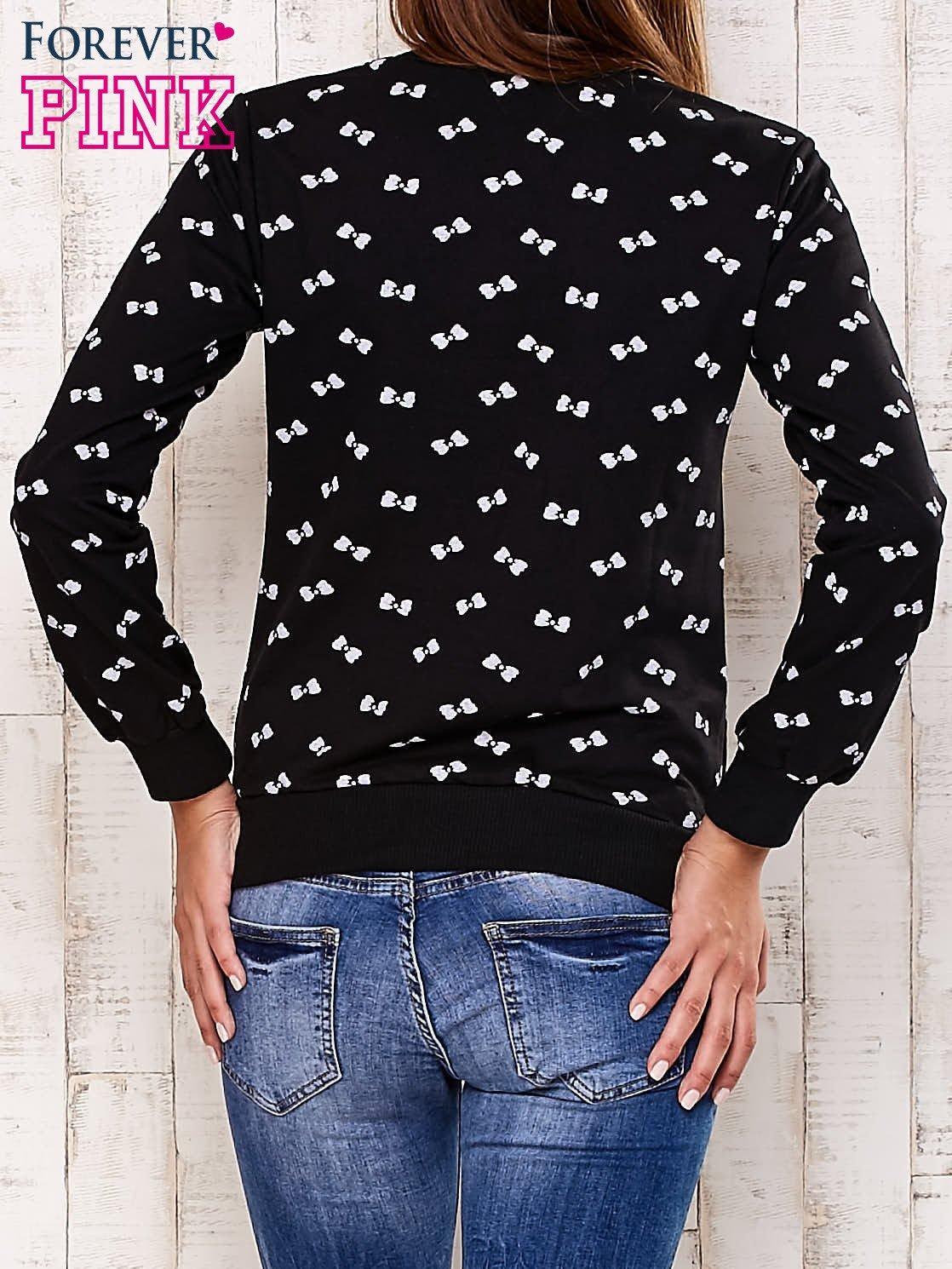 Czarna bluza motyw kokardek                                  zdj.                                  2