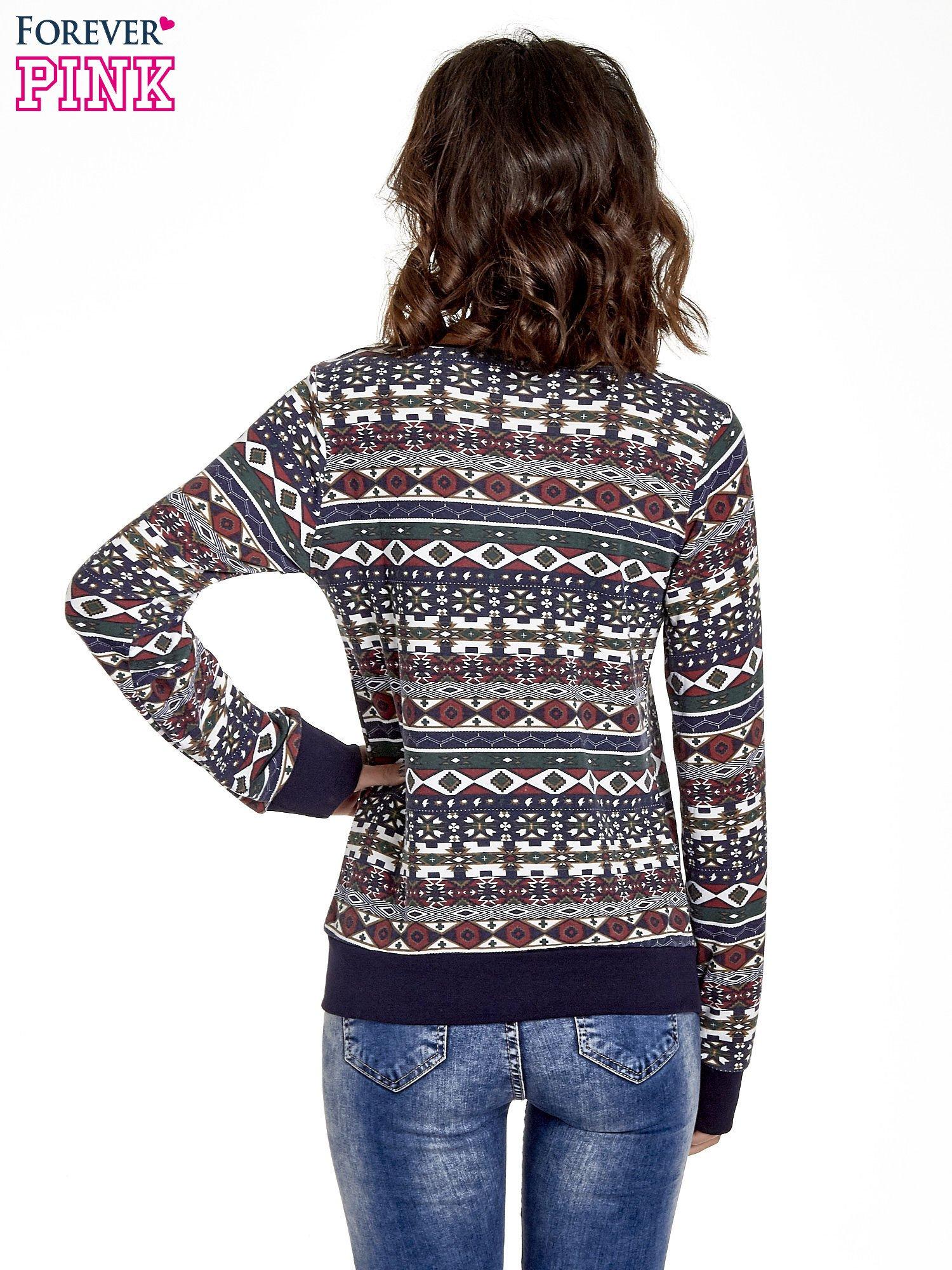 Czarna bluza w azteckie wzory                                  zdj.                                  2