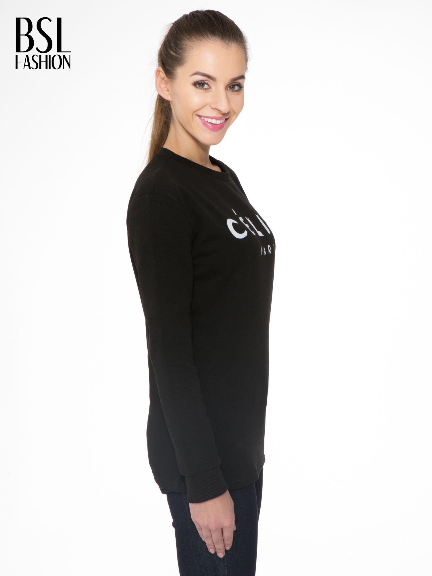Czarna bluza z nadrukiem CÉLINE PARIS                                  zdj.                                  3
