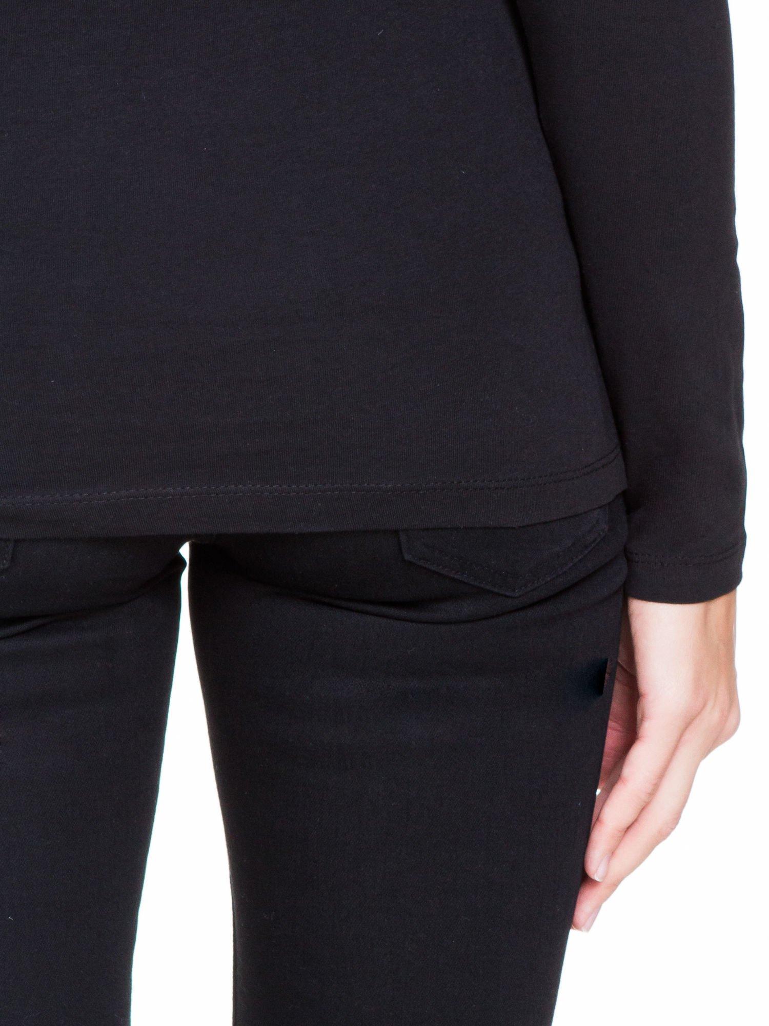 Czarna bluzka z tiulowym karczkiem                                  zdj.                                  8