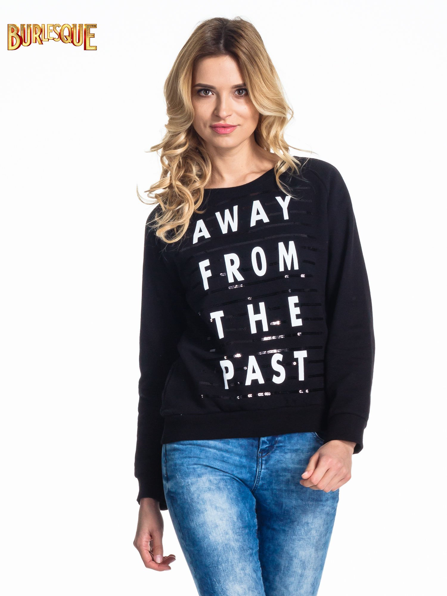 Czarna damska bluza z napisem AWAY FROM THE PAST                                  zdj.                                  3