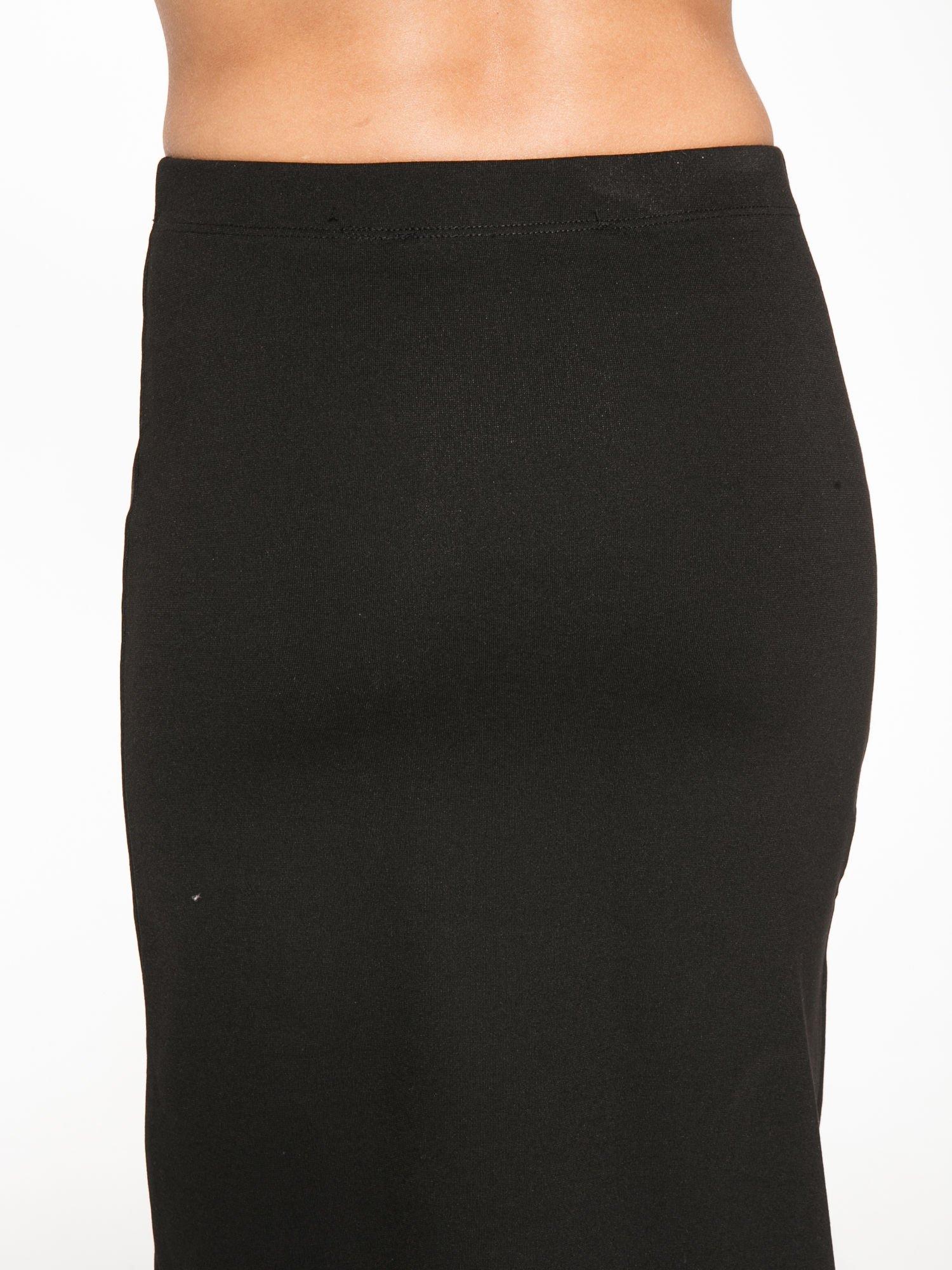Czarna długa spódnica z rozporkami z przodu                                  zdj.                                  6