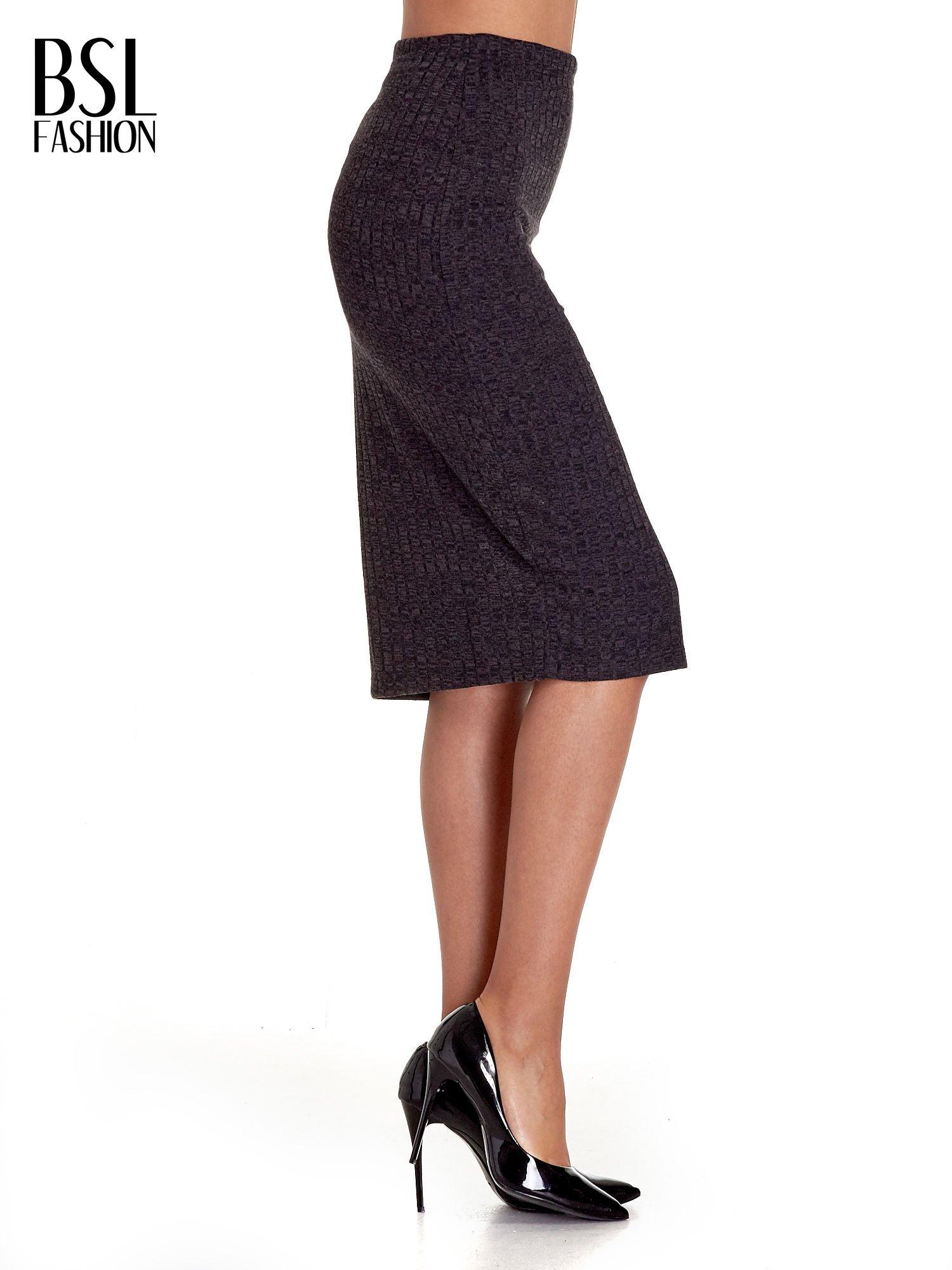 Czarna dzianinowa spódnica za kolano                                  zdj.                                  3