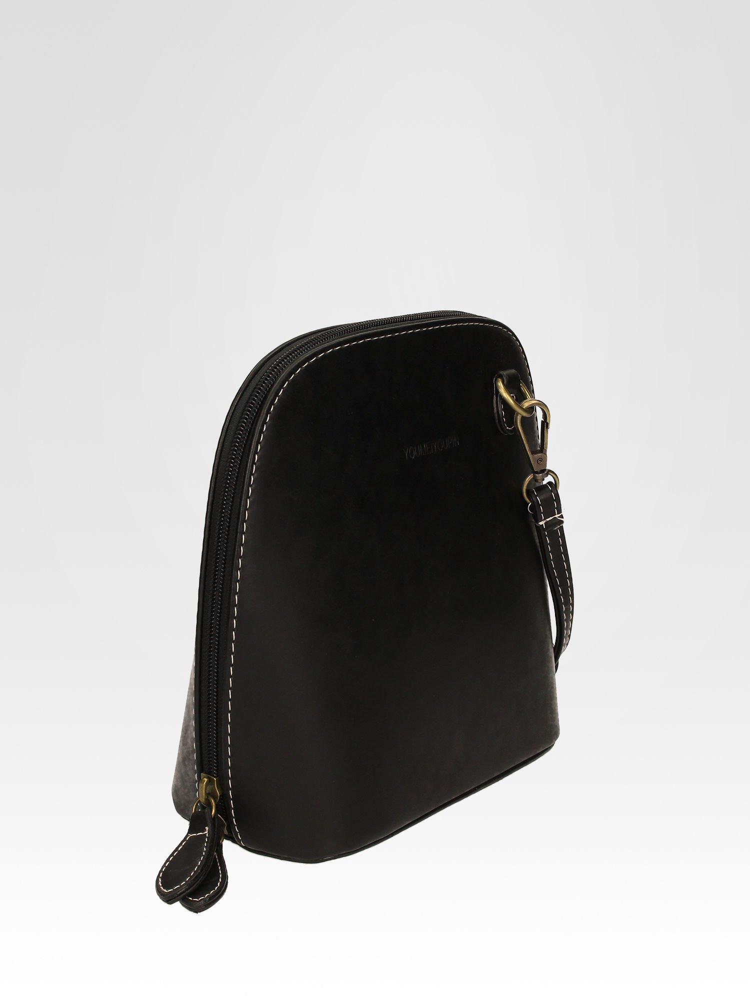 Czarna elegancka listonoszka z odpinanaym paskiem                                  zdj.                                  2