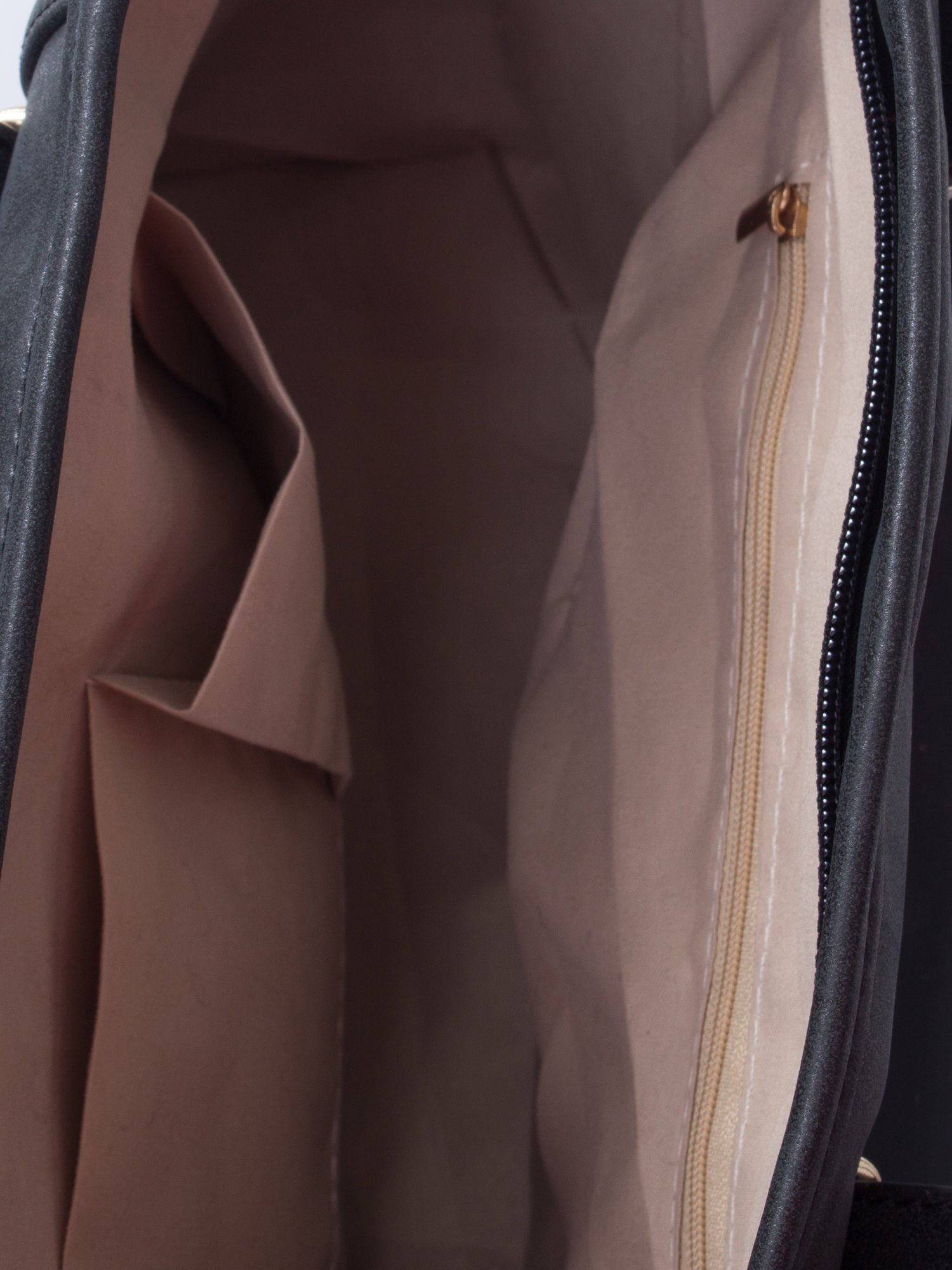Czarna miękka torba shopper bag                                  zdj.                                  5