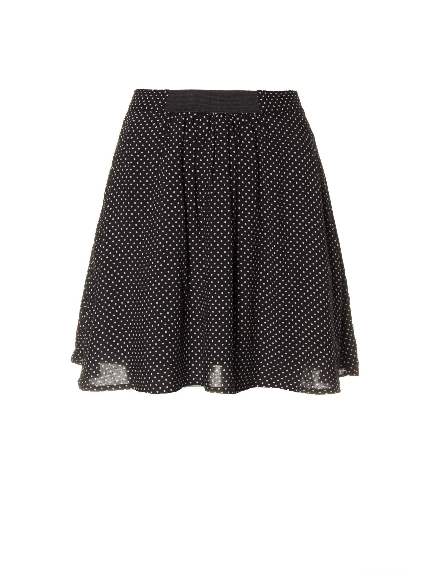 Czarna mini spódnica w kropki                                  zdj.                                  5