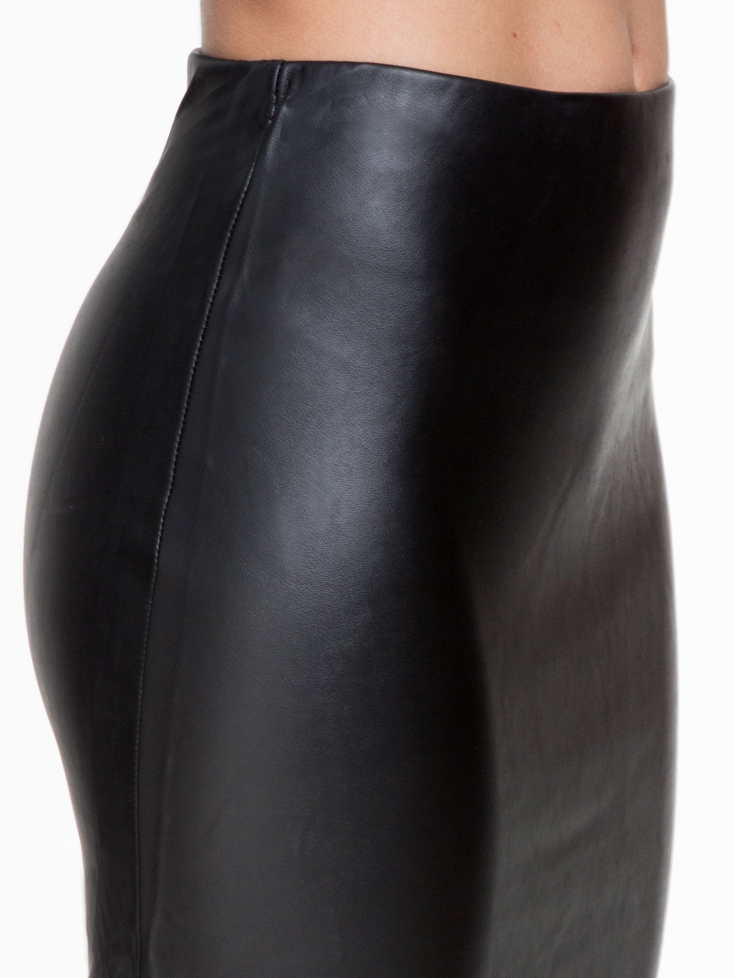 Czarna skórzana spódnica midi                                  zdj.                                  5