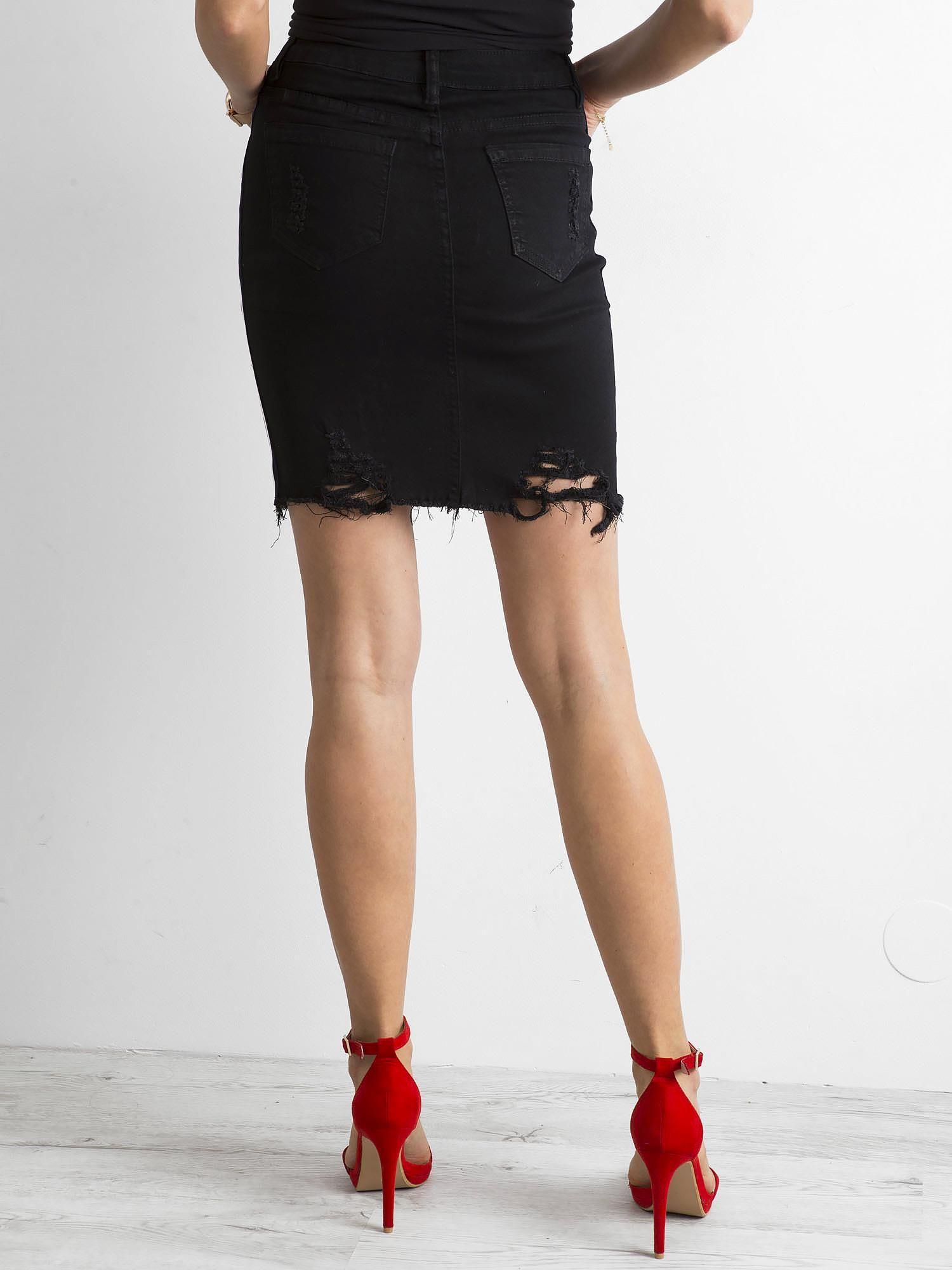 Jeansowa spódnica czarna s krótka 36 reserved dżinsowa
