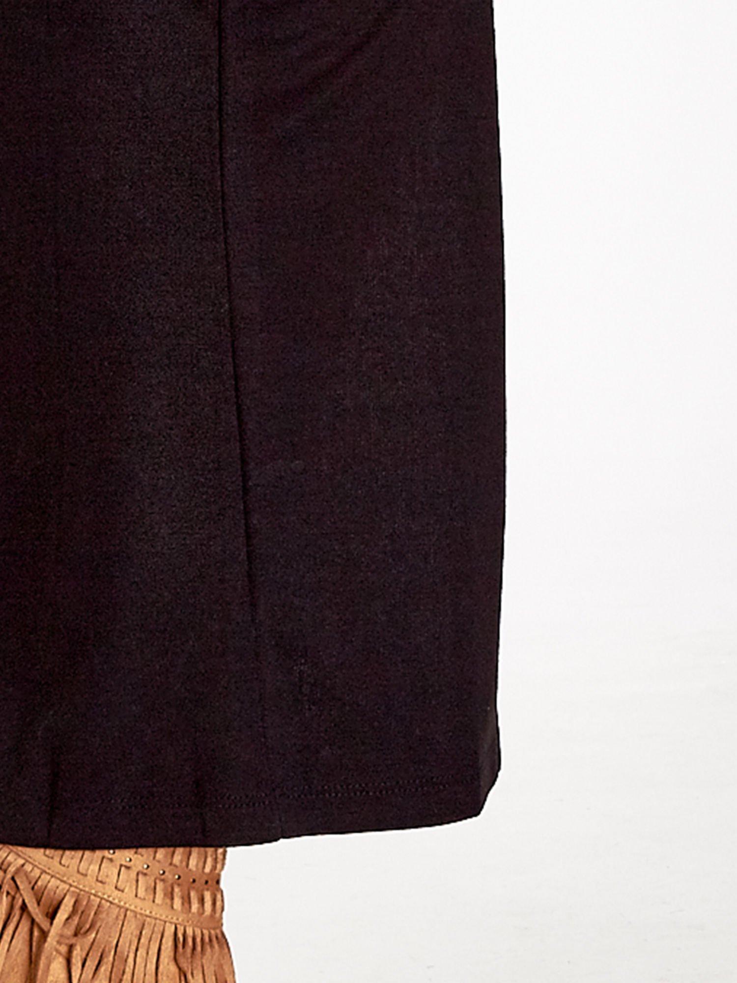 Czarna spódnica maxi z dużym rozporkiem                                  zdj.                                  5