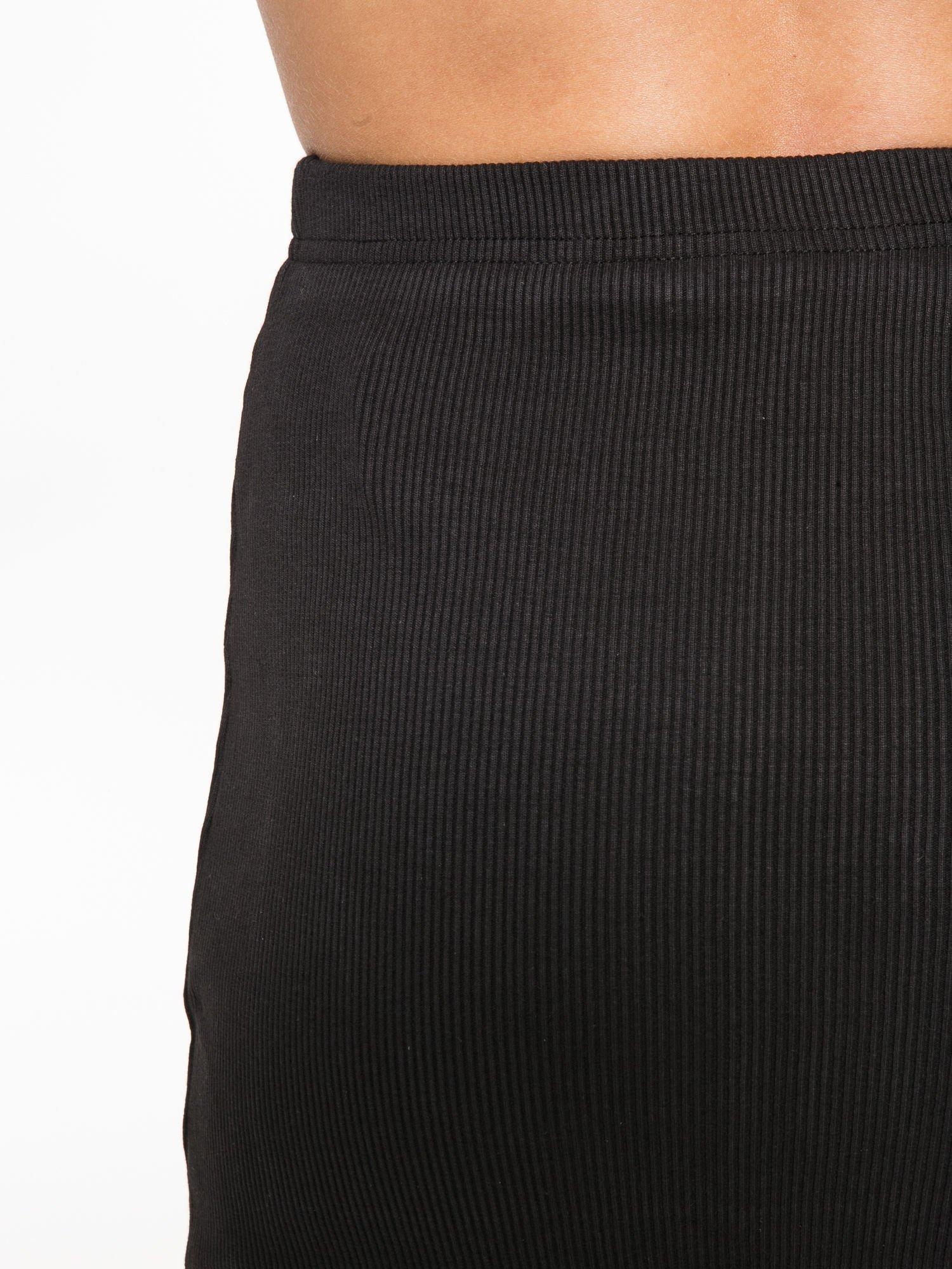 Czarna spódnica midi z suwakiem z przodu                                  zdj.                                  9