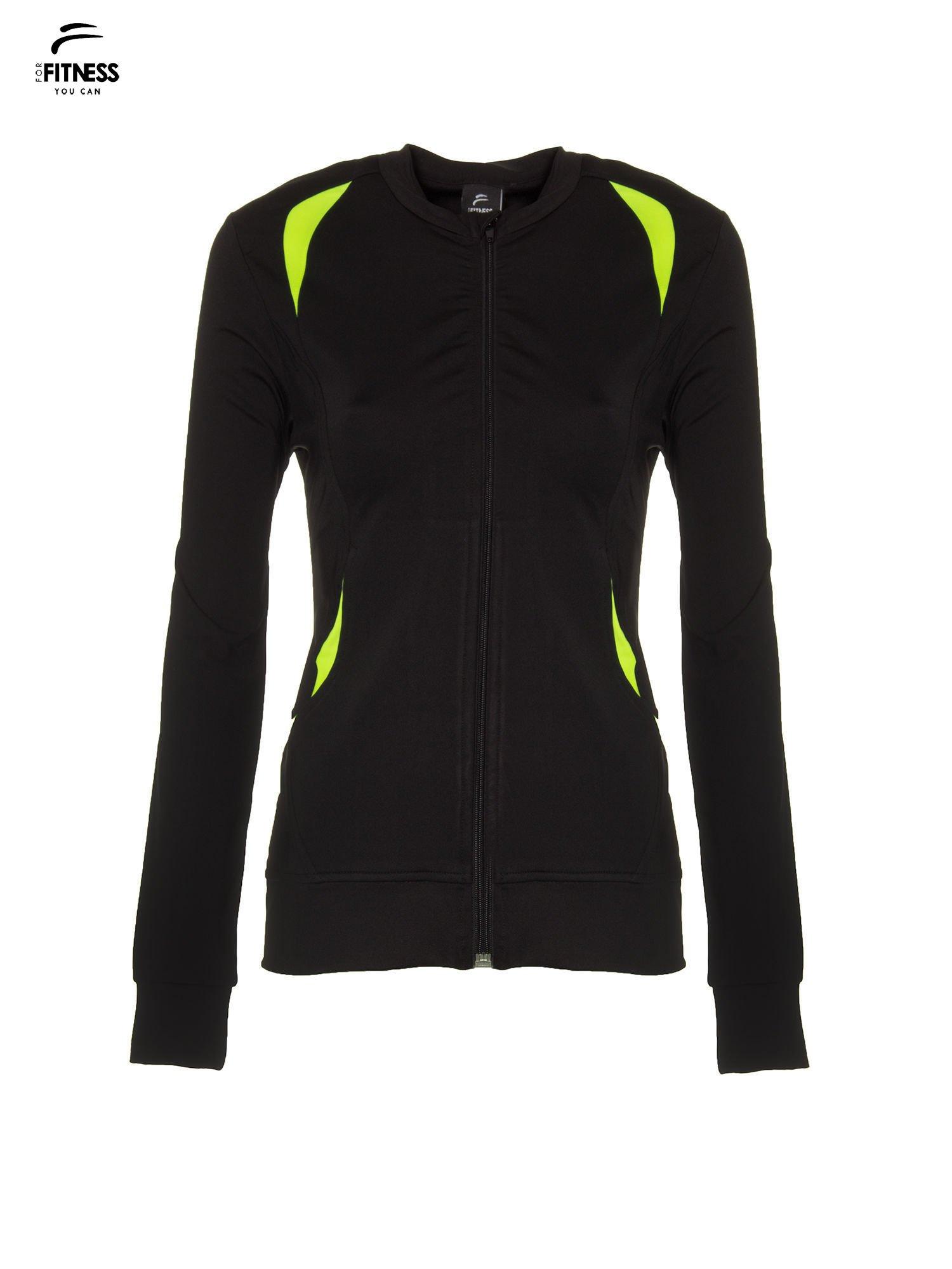 Czarna termoaktywna bluza do biegania z fluozielonymi wstawkami ♦ Performance RUN                                  zdj.                                  5