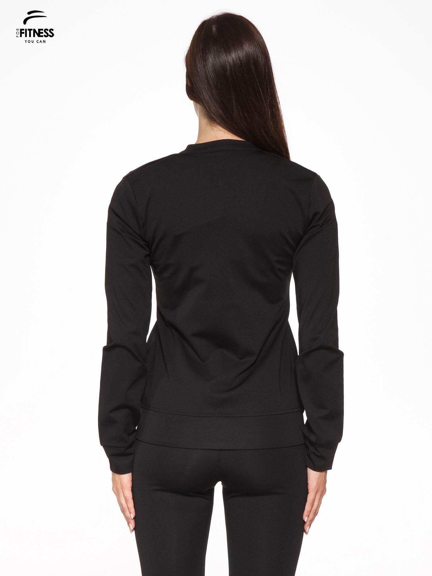 Czarna termoaktywna bluza do biegania z fluozielonymi wstawkami ♦ Performance RUN                                  zdj.                                  4
