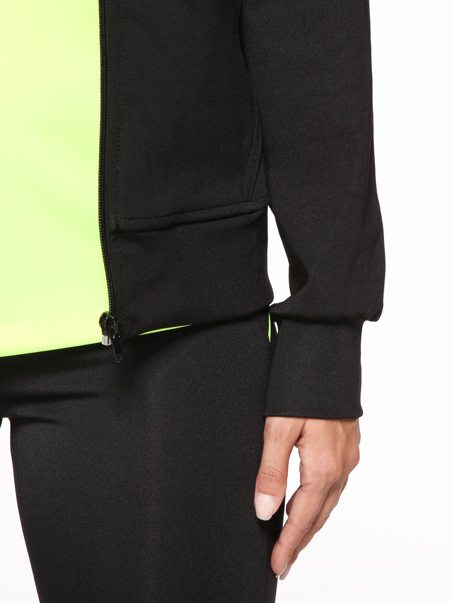 Czarna termoaktywna bluza do biegania z kapturem i fluozielonymi wstawkami ♦ Performance RUN                                  zdj.                                  9
