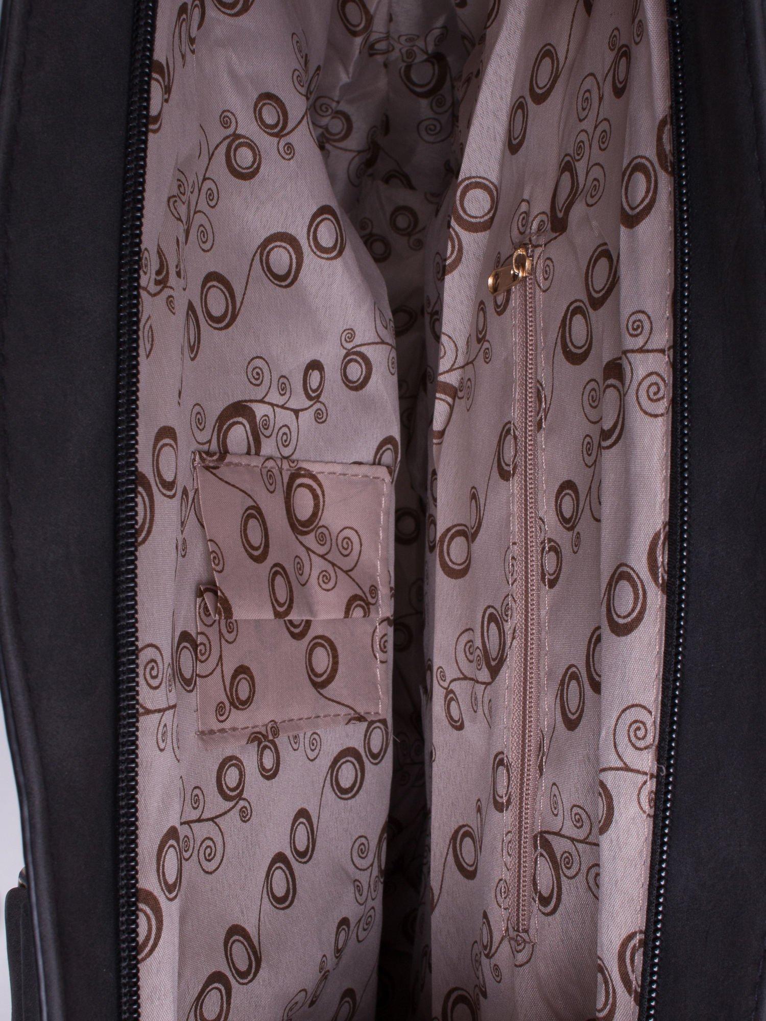 Czarna torba city bag na ramię                                  zdj.                                  4