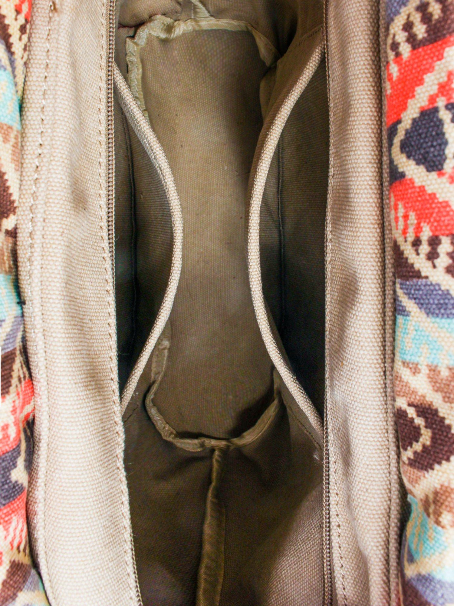 Czarna torba gumowa z motywem azteckim                                  zdj.                                  7
