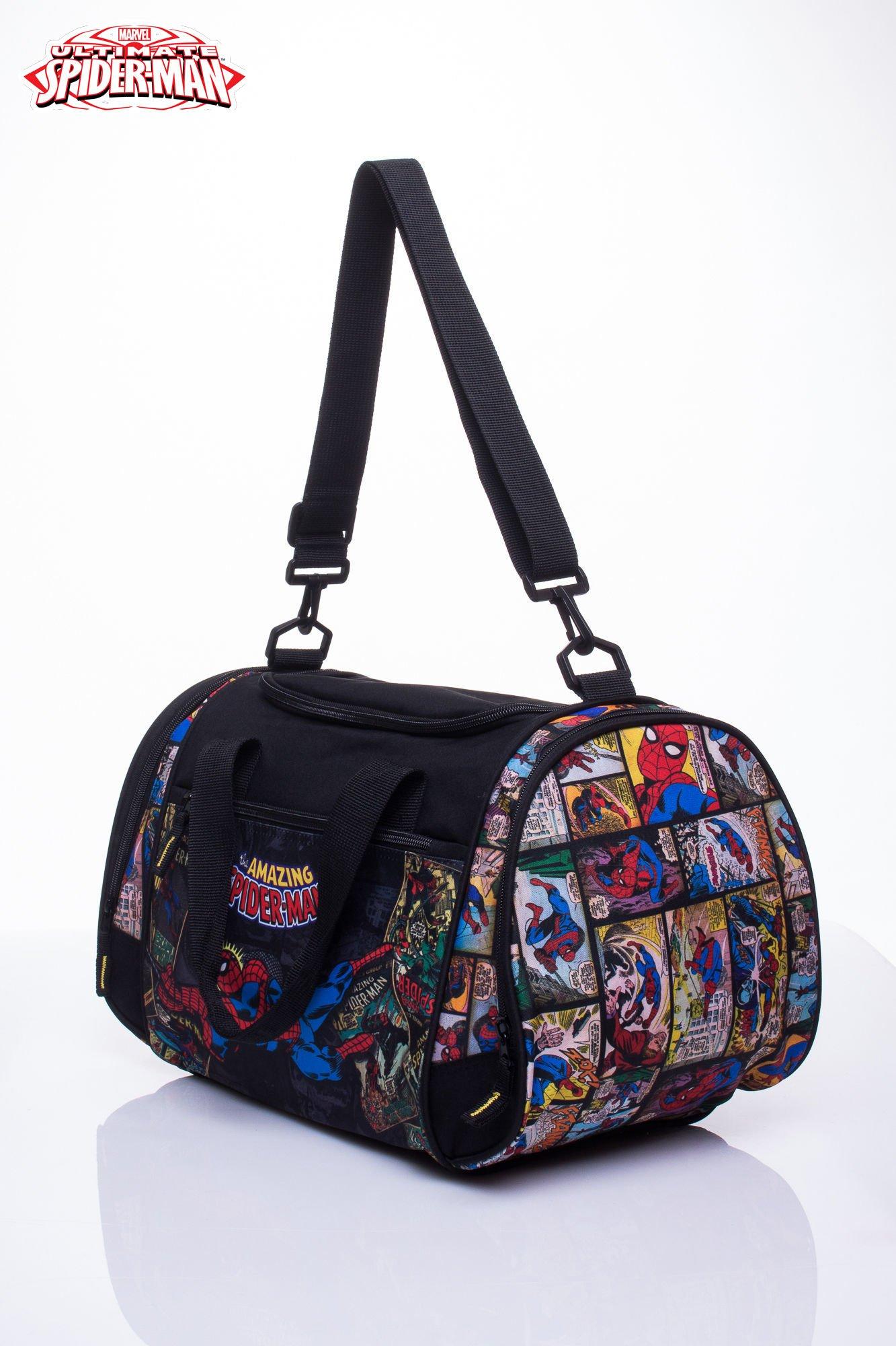 Czarna torba sportowa MARVEL SpiderMan                                  zdj.                                  2