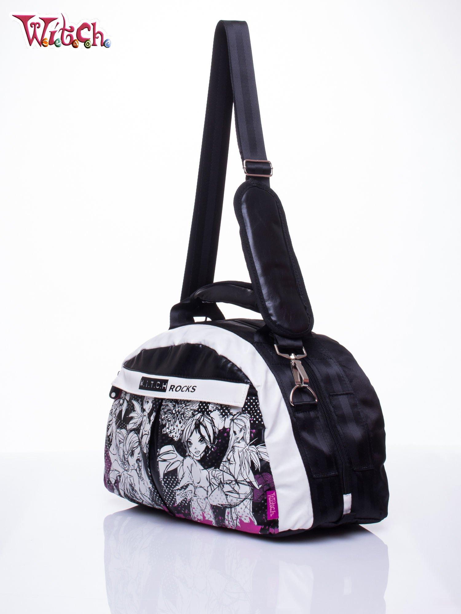 Czarna torba szkolna DISNEY Witch z odpinanym paskiem                                  zdj.                                  2