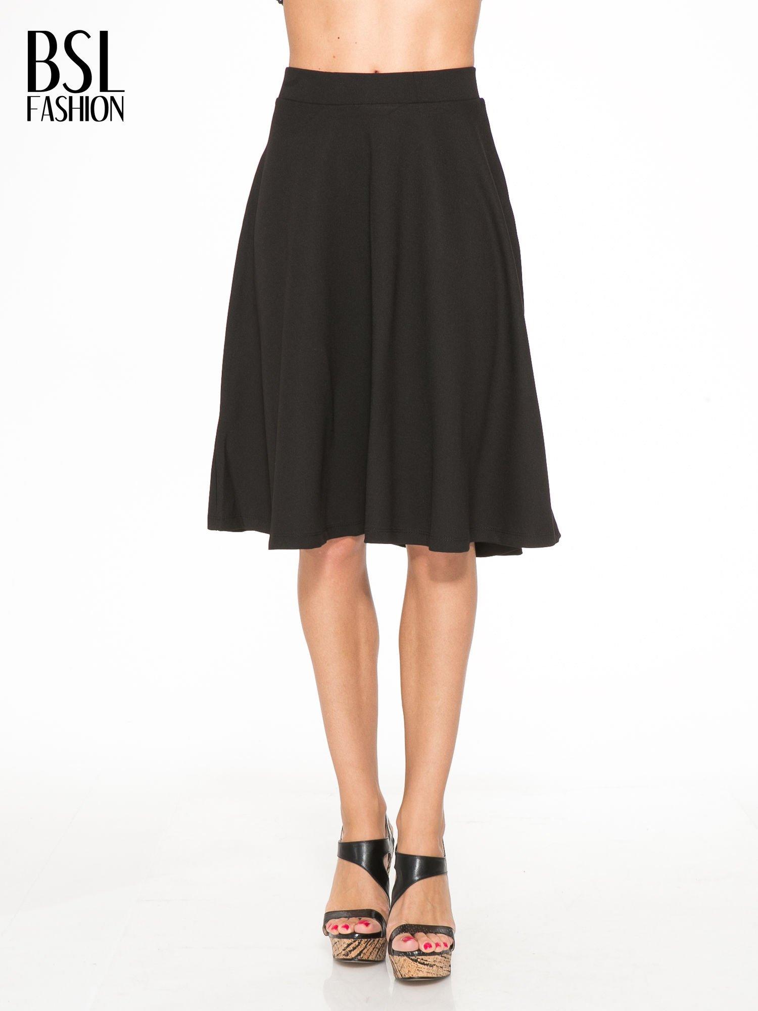 Czarna zwiewna spódnica midi                                  zdj.                                  1