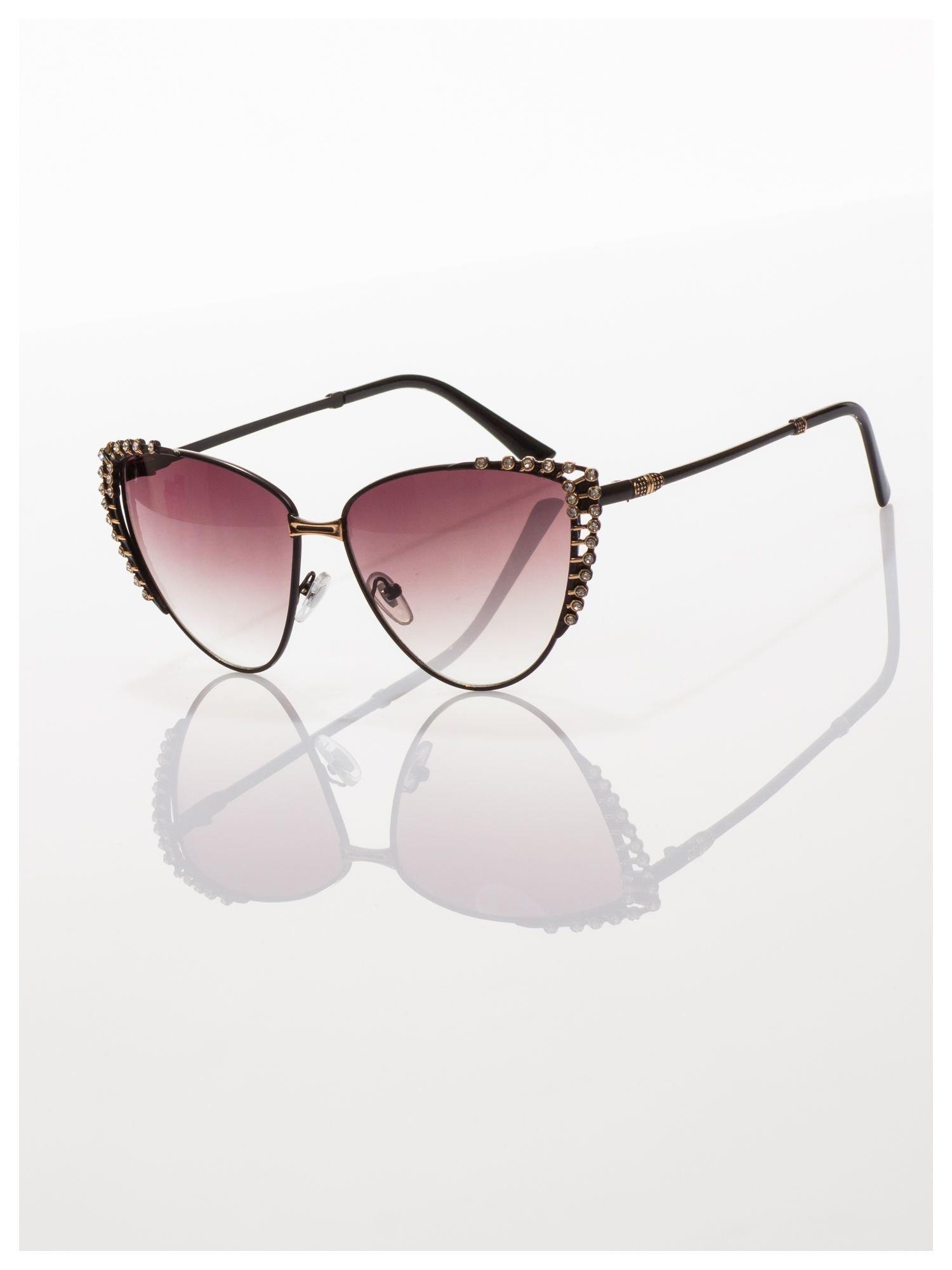 Czarne KOCIE OCZY okulary przeciwsłoneczne w stylu RETRO                                   zdj.                                  3