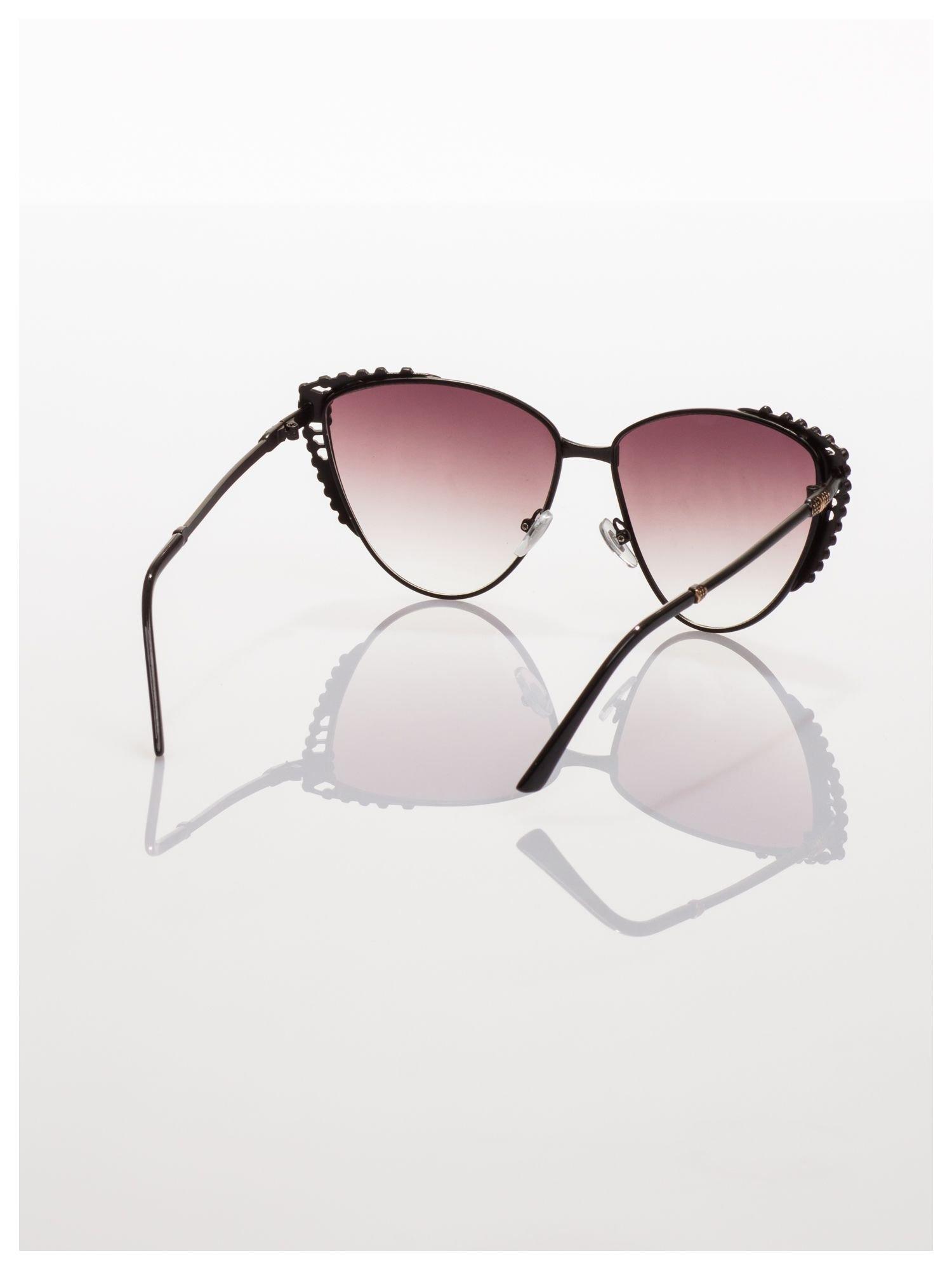 Czarne KOCIE OCZY okulary przeciwsłoneczne w stylu RETRO                                   zdj.                                  4