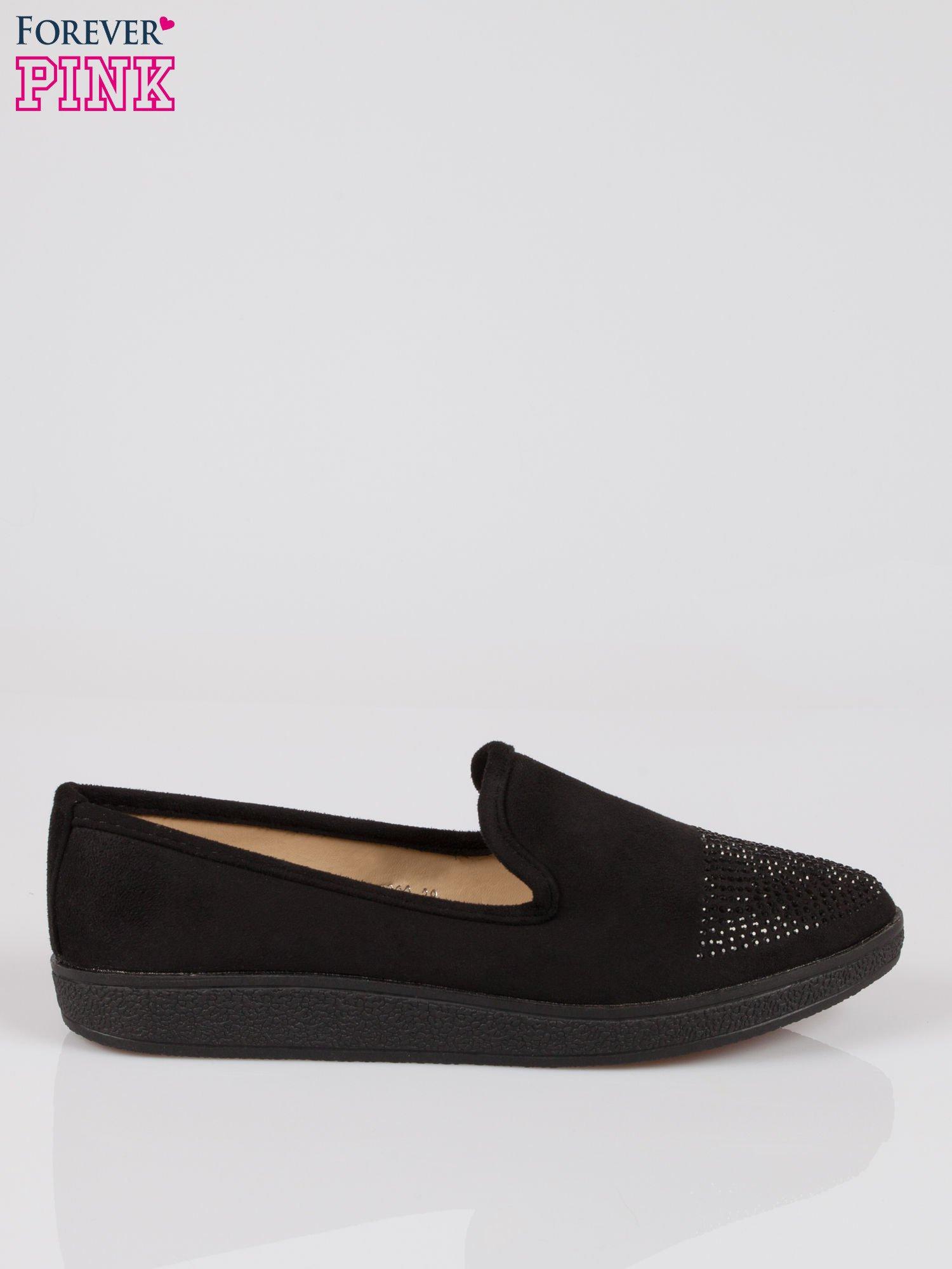 Czarne buty slippers z dżetami                                  zdj.                                  1