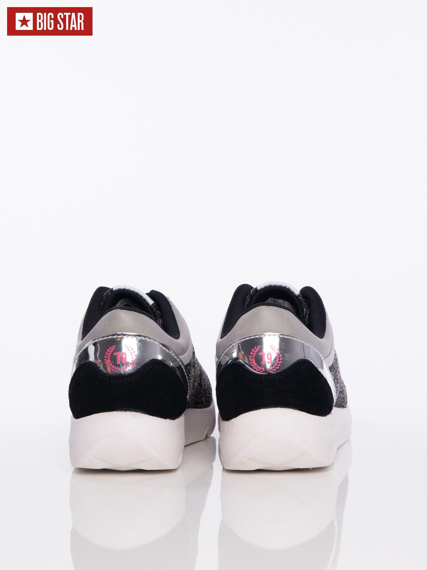 Różowe Buty Sportowe Big Star Z Lustrzaną Wstawką Nad Piętą
