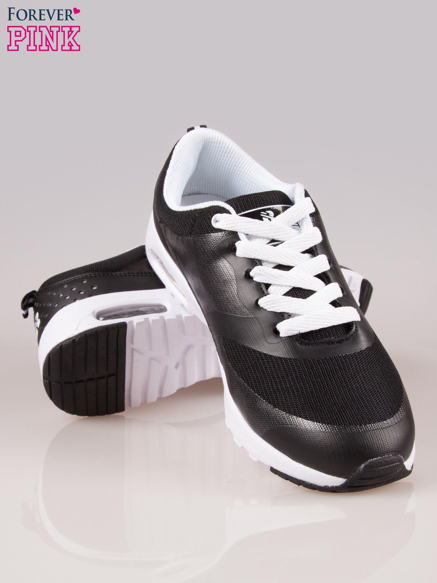 Czarne buty sportowe New York z siateczką i poduszką powietrzną w podeszwie                                  zdj.                                  4
