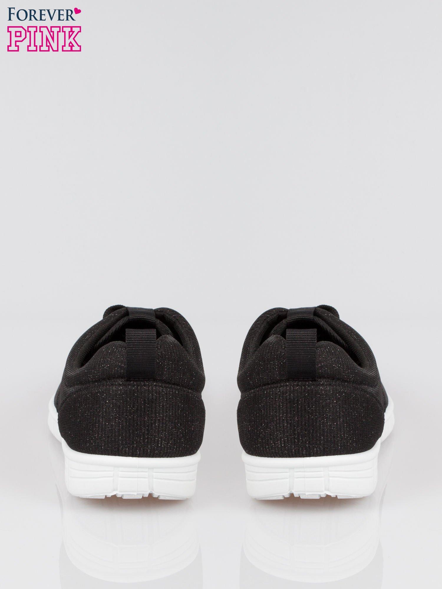Czarne buty sportowe textile Diamonds z metaliczną nitką                                  zdj.                                  3