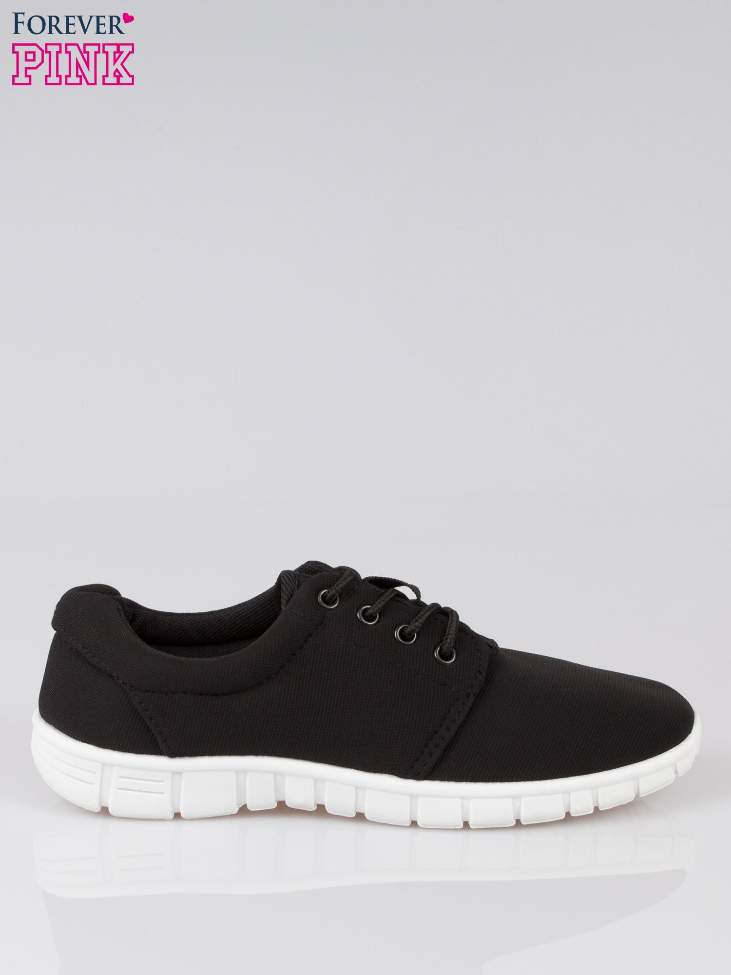 Czarne buty sportowe textile Superior na podeszwie flex                                  zdj.                                  1