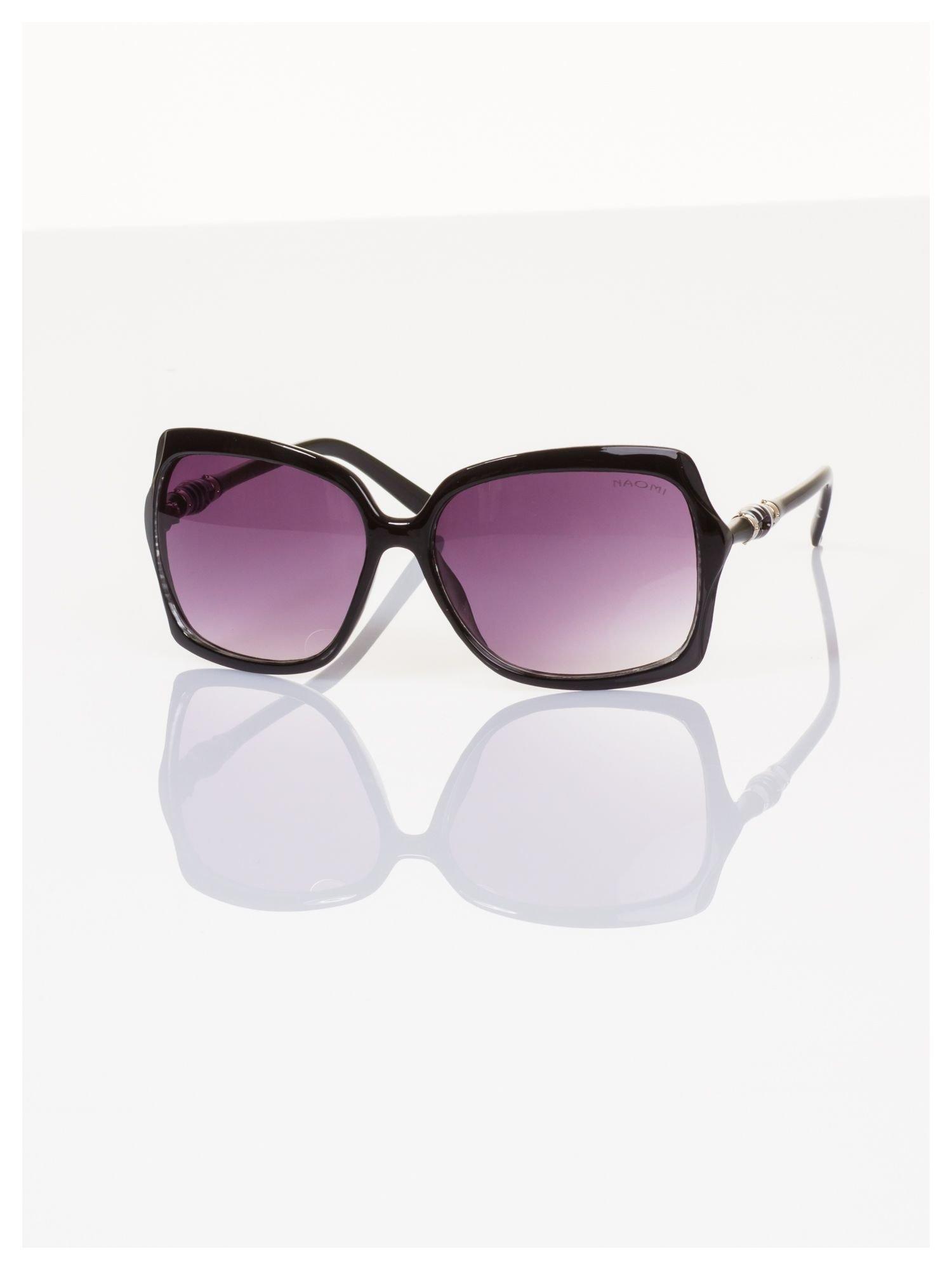 Czarne duże okulary blogerek MUCHY N.Y.STYLE filtry UV,normy CE                                  zdj.                                  2