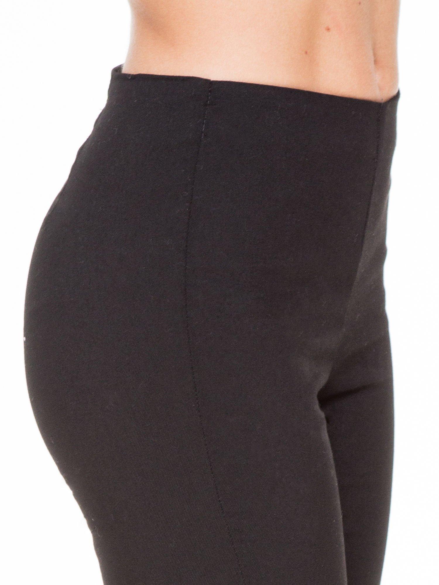 Czarne eleganckie spodnie typu tregginsy z wysoką talią                                  zdj.                                  5