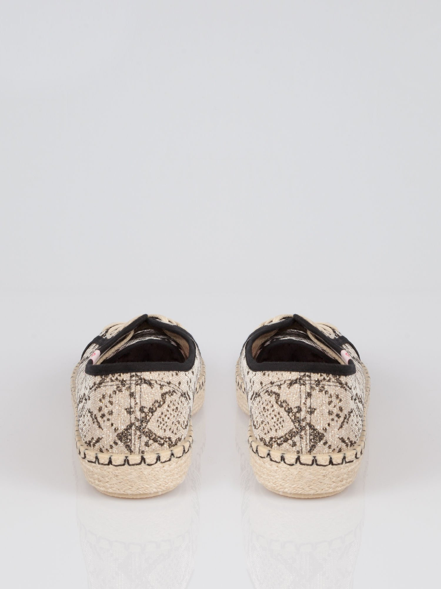 Czarne epadryle typu trampki z motywem glitter snake print Keiko                                  zdj.                                  3