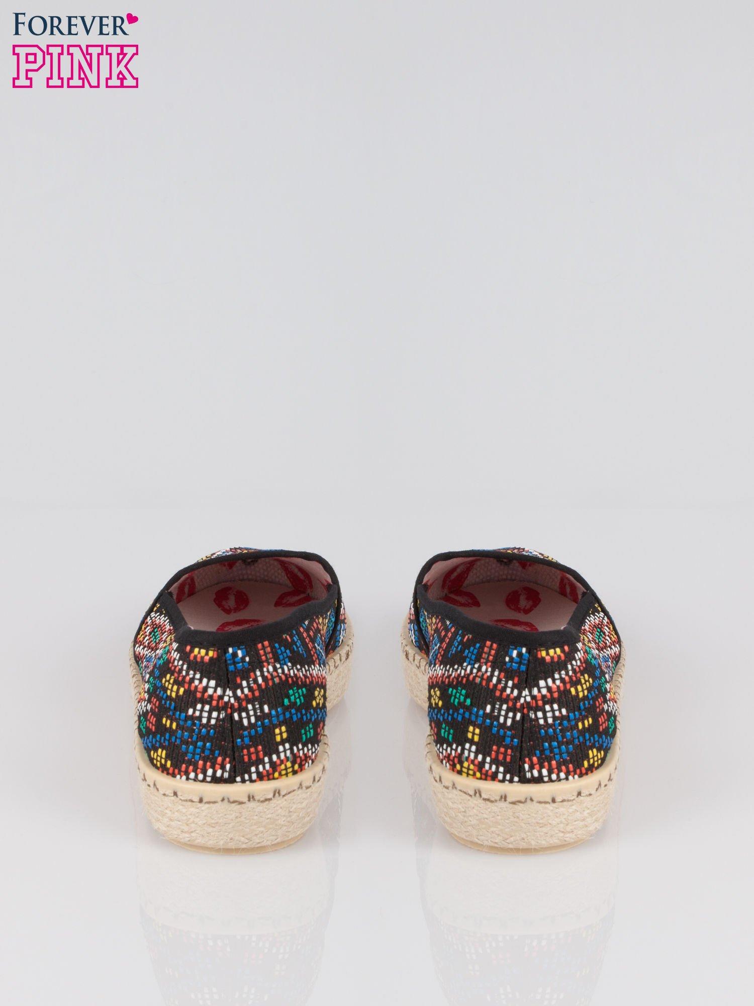 Czarne espadryle w azteckie wzory                                  zdj.                                  3