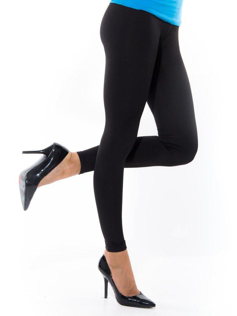 7da163c1d7c43b Czarne gładkie legginsy - Spodnie legginsy - sklep eButik.pl