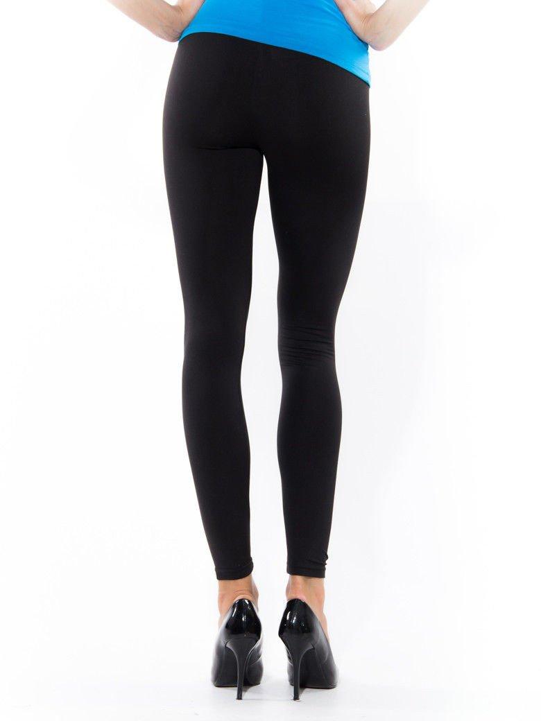 Czarne gładkie legginsy                                   zdj.                                  3
