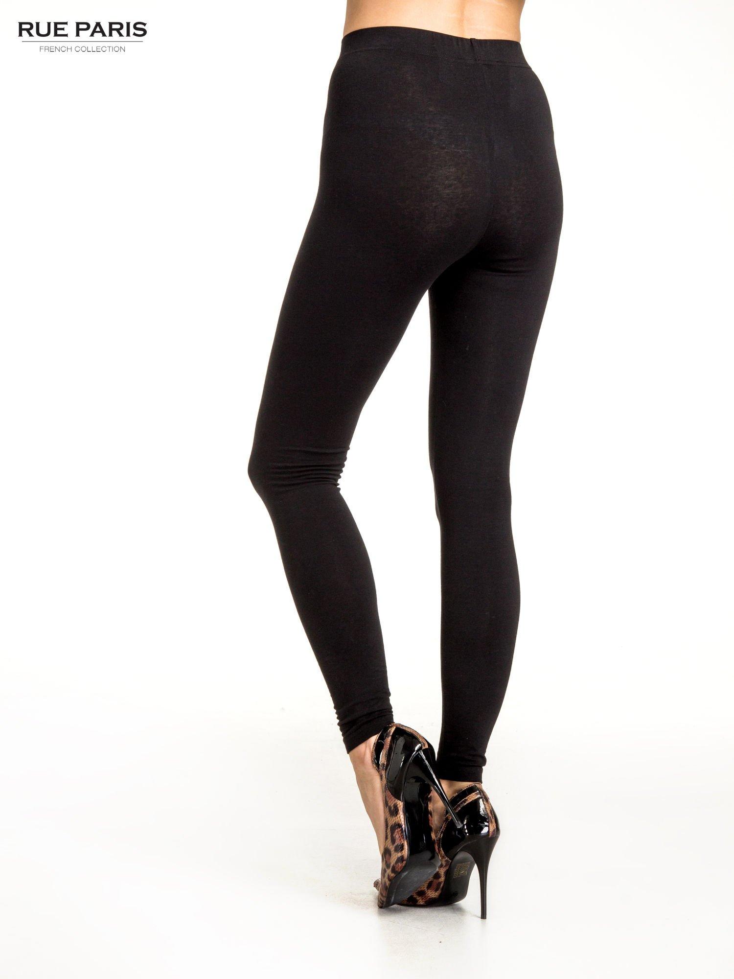 Czarne legginsy z dżetami na dole                                  zdj.                                  4