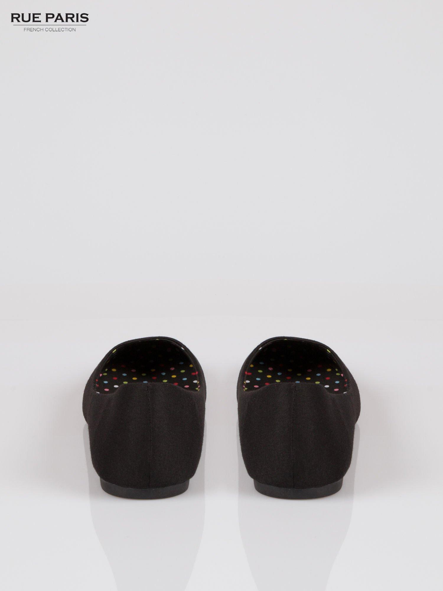 Czarne lekkie baleriny z tkaniny                                  zdj.                                  3