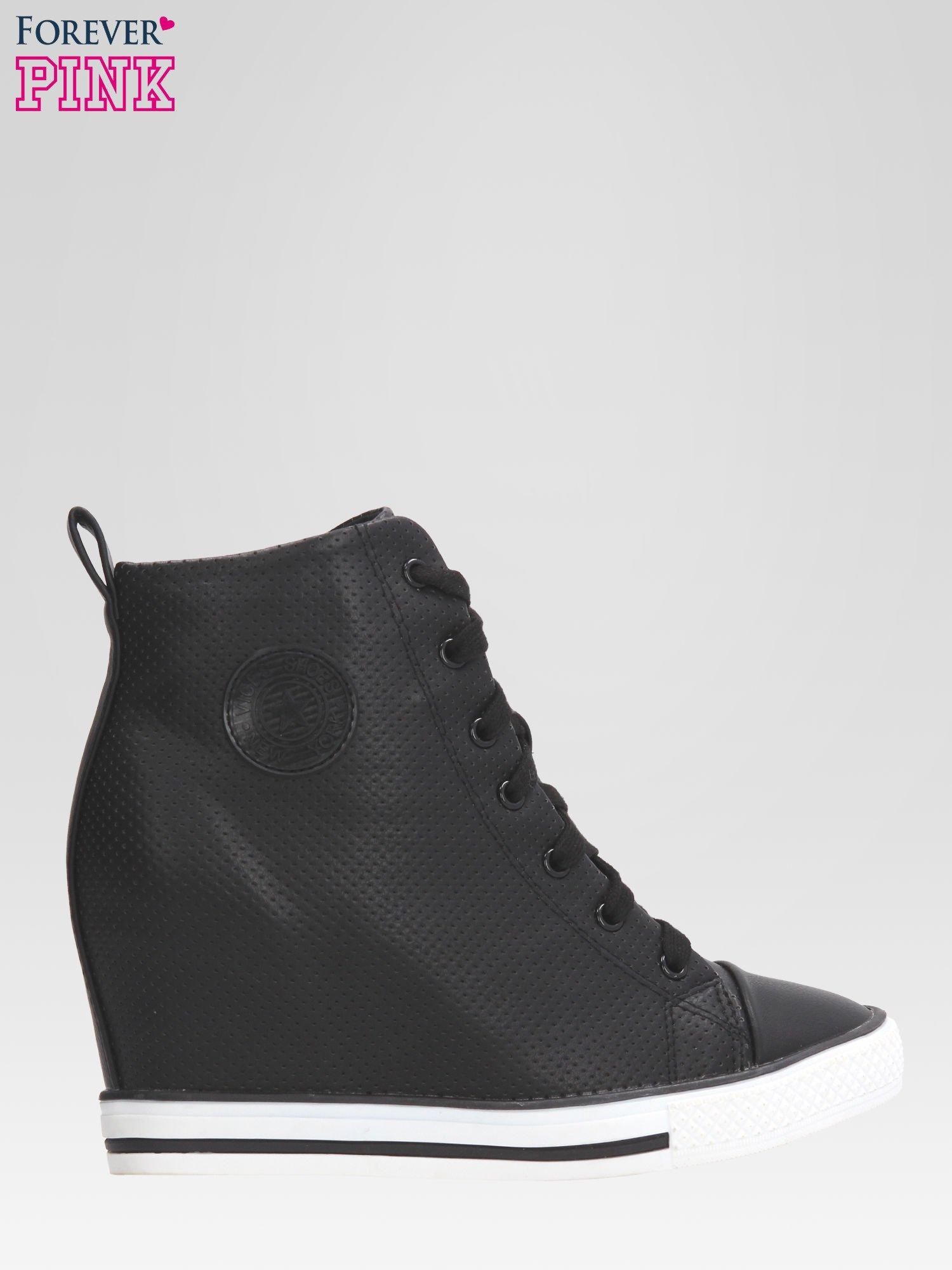 1ece3797 Czarne sneakersy damskie z siateczką - Buty Sneakersy - sklep eButik.pl