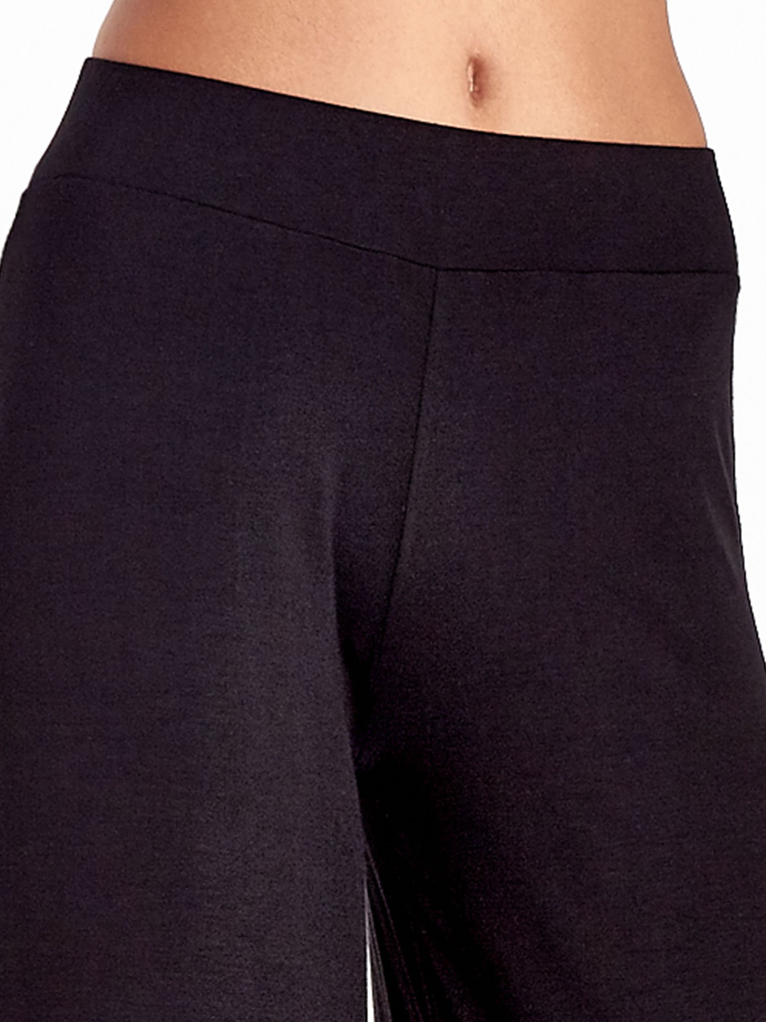 Czarne spódnicospodnie typu culottes                                  zdj.                                  6